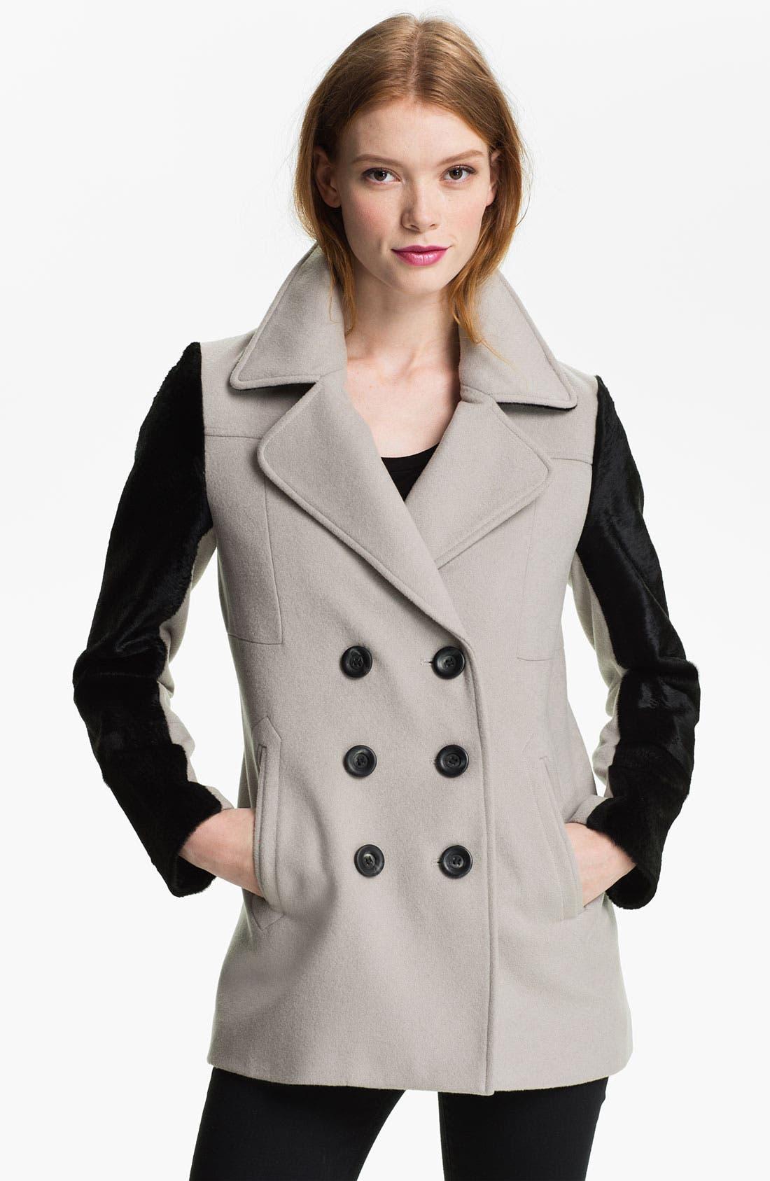 Alternate Image 1 Selected - Rebecca Minkoff 'Jamison' Genuine Calf Hair Sleeve Jacket