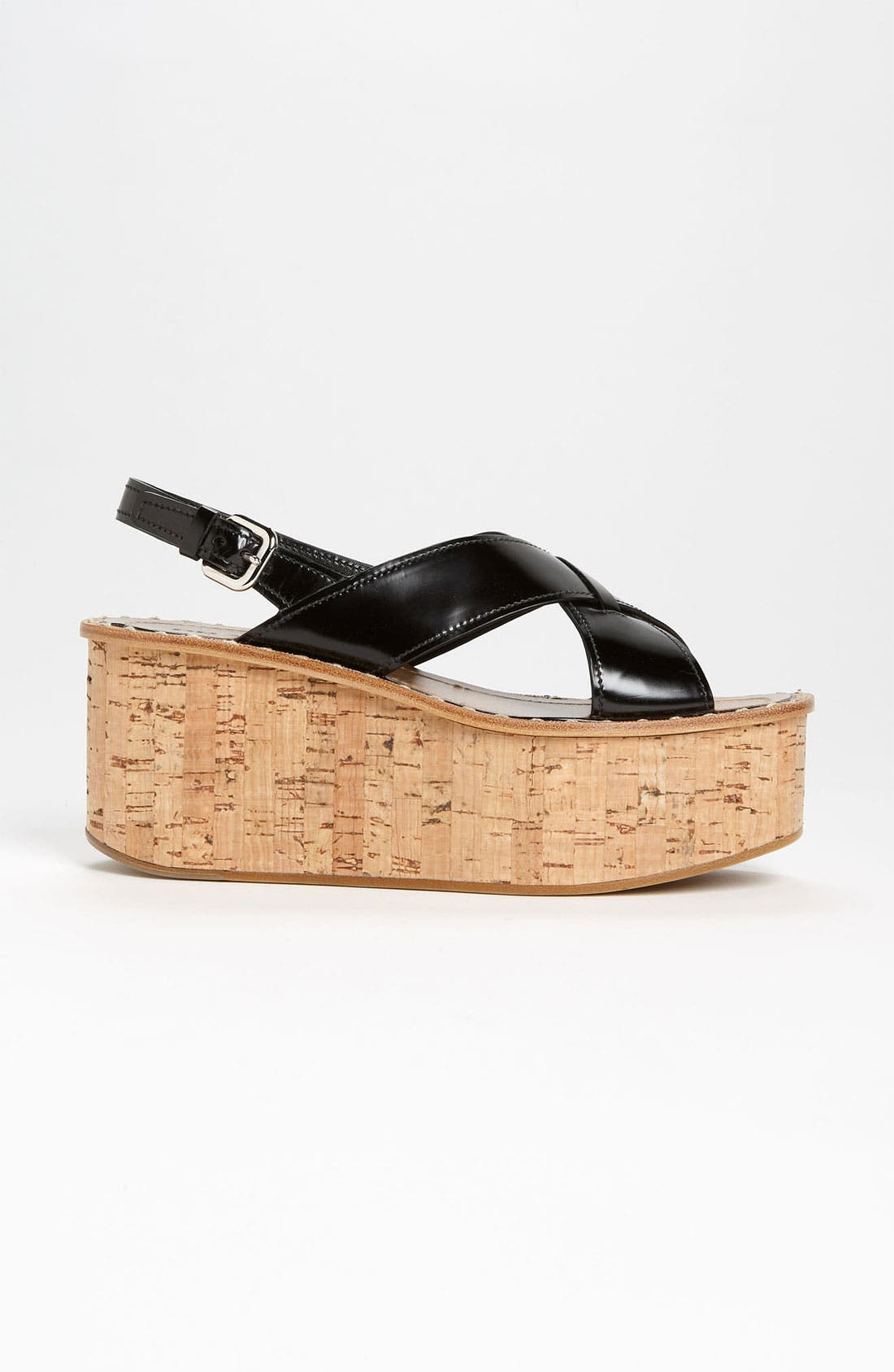 Alternate Image 4  - Prada 'Criss Cross' Wedge Sandal