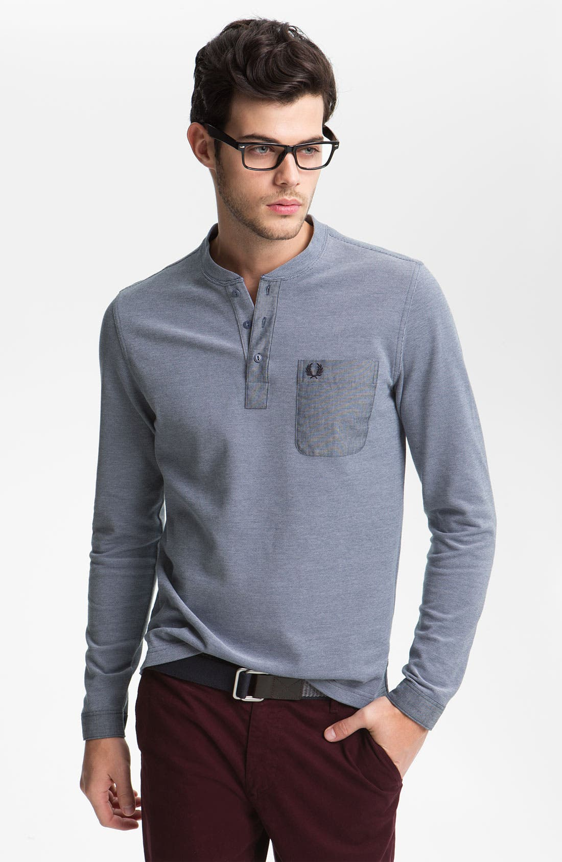 Main Image - Fred Perry Long Sleeve Henley T-Shirt