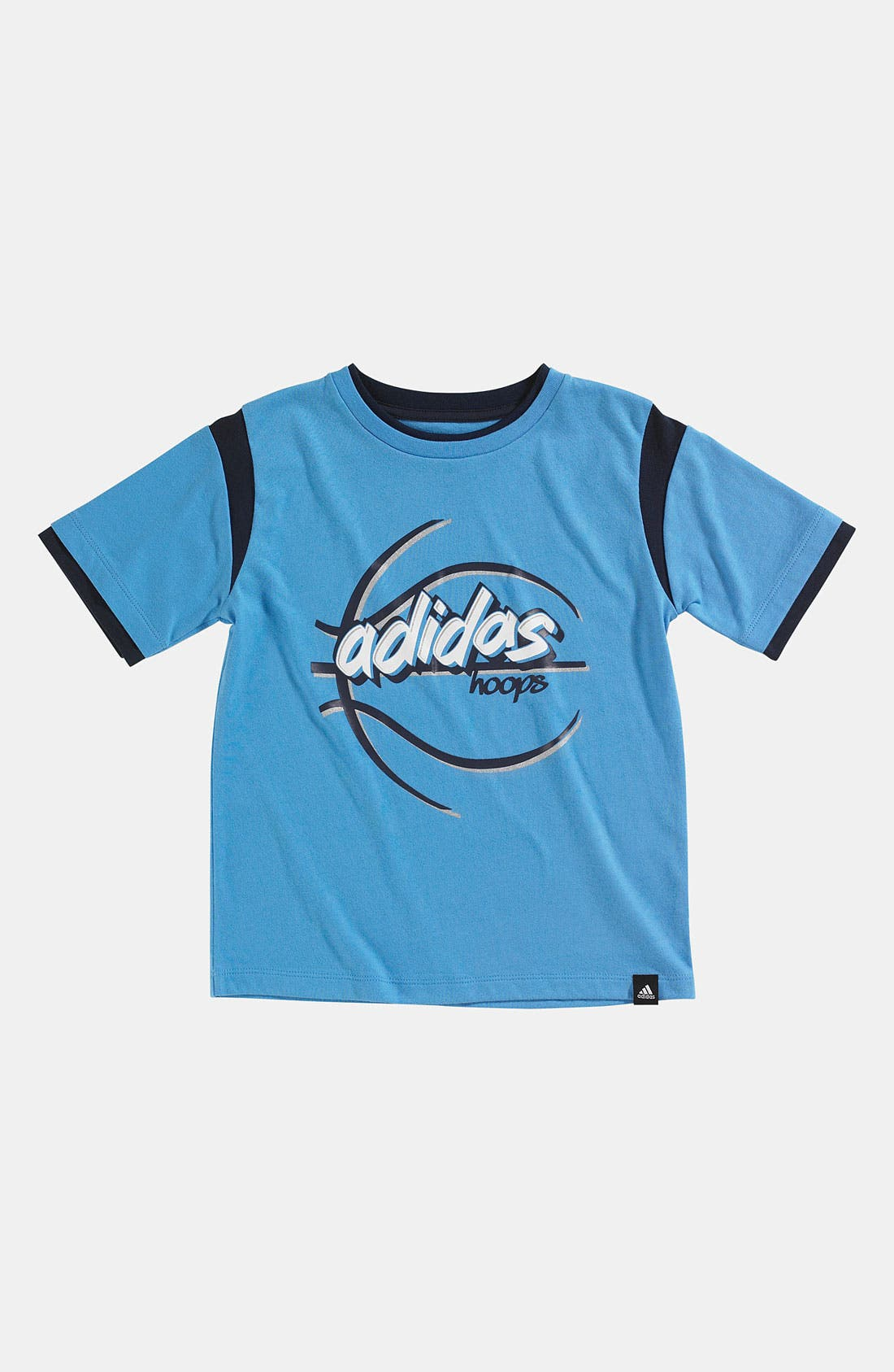 Main Image - adidas 'Skeleton Ball' T-Shirt (Little Boys)