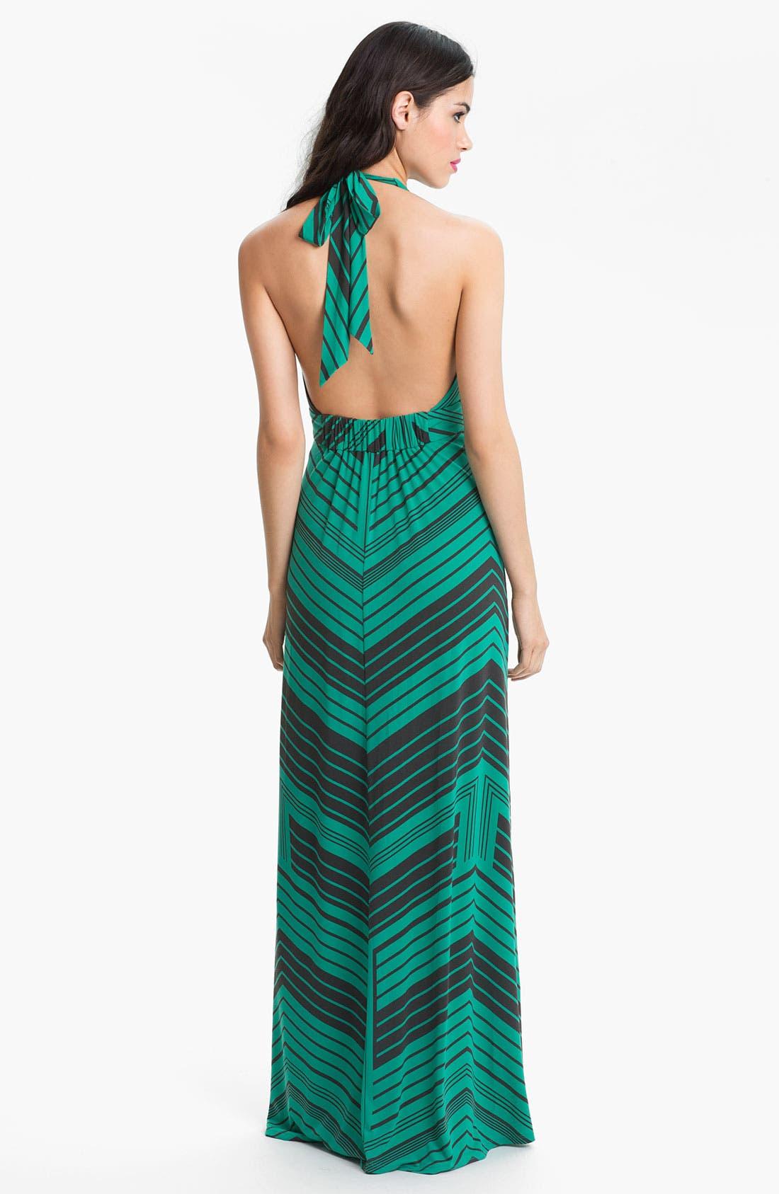 Alternate Image 2  - Jessica Simpson Stripe Halter Maxi Dress