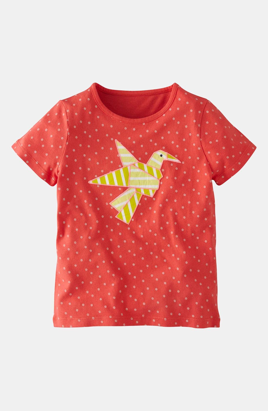 Alternate Image 1 Selected - Mini Boden 'Origami' Appliqué Tee (Little Girls & Big Girls)