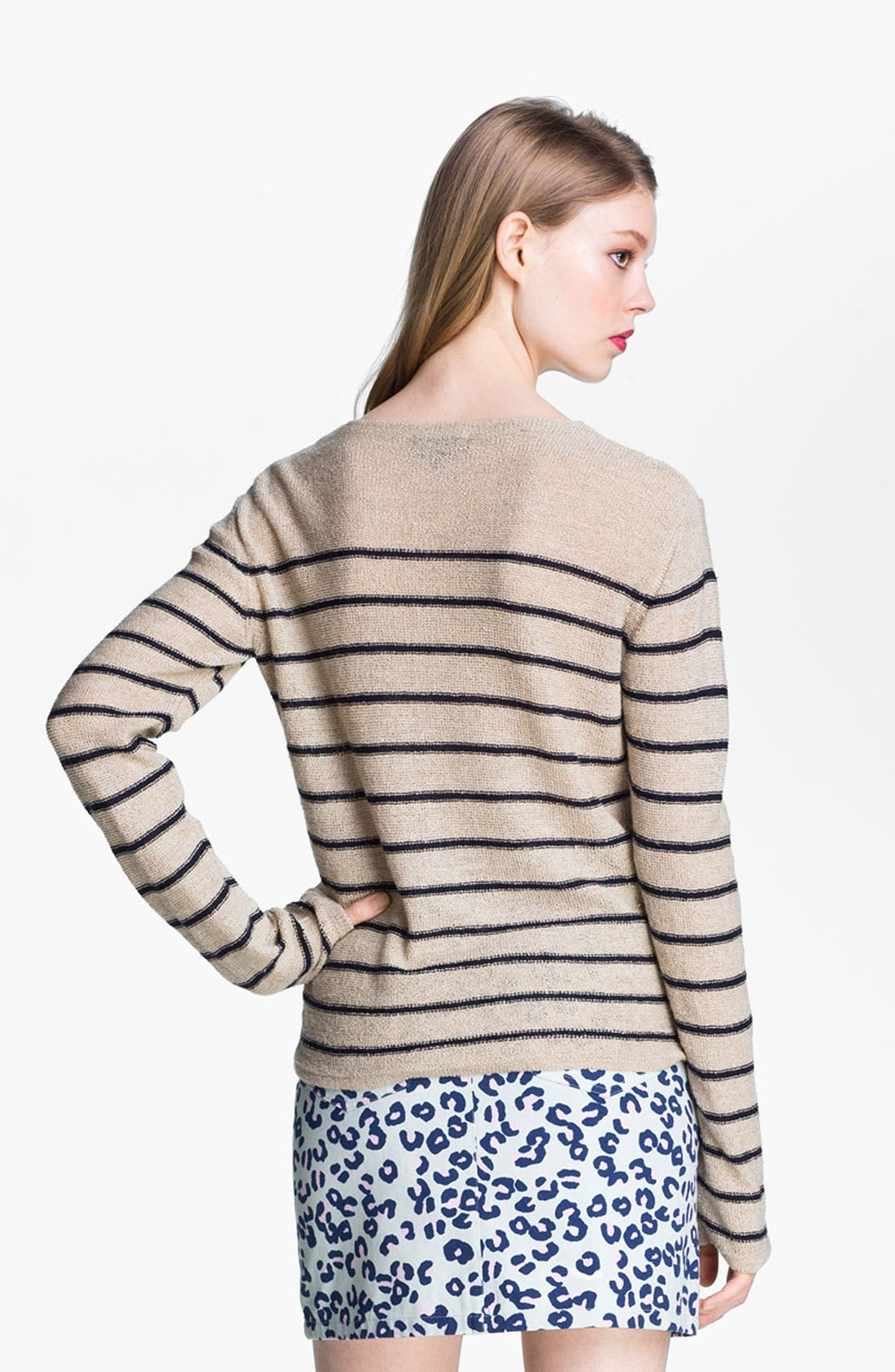 Alternate Image 3  - A.P.C. Stripe Textured Sweater
