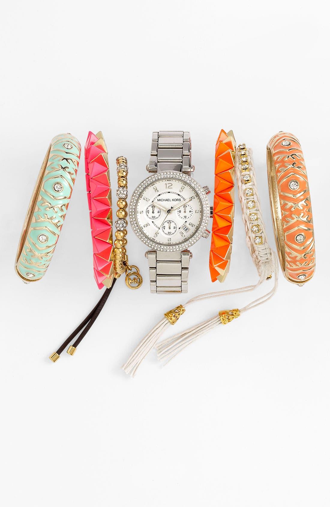 Alternate Image 1 Selected - Michael Kors Watch & Cara Accessories Bracelets