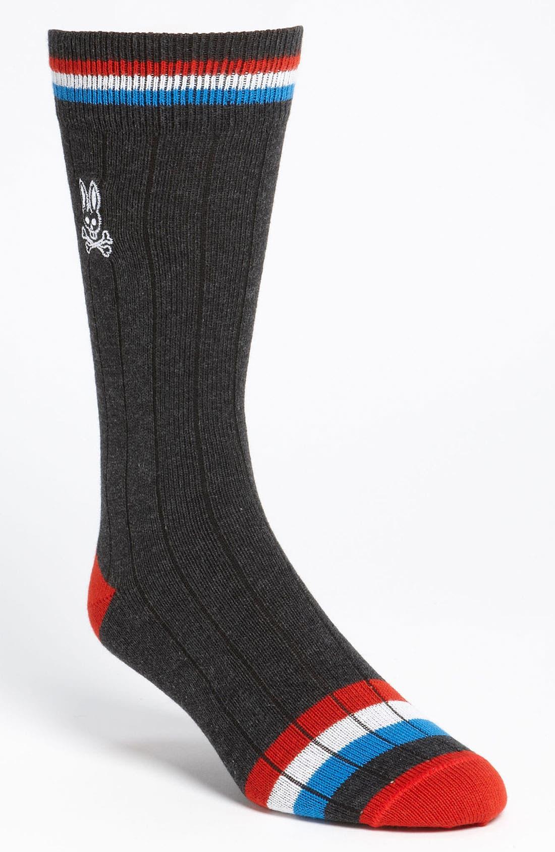 Main Image - Psycho Bunny Stripe Socks