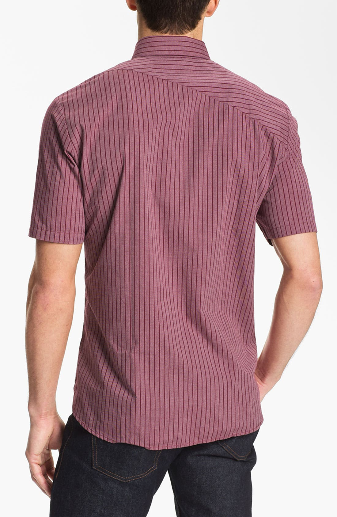 Alternate Image 2  - Volcom 'Why Factor' Stripe Woven Shirt
