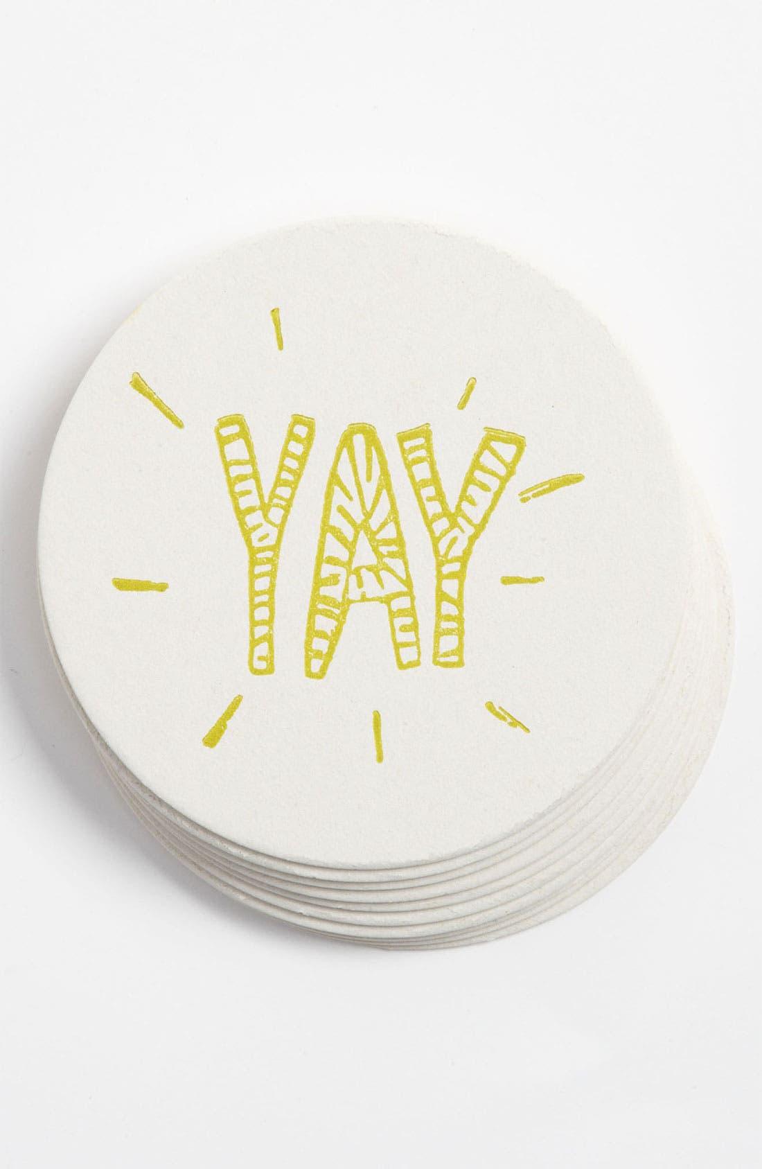 Alternate Image 1 Selected - 'Yay' Letterpress Coasters (Set of 10)