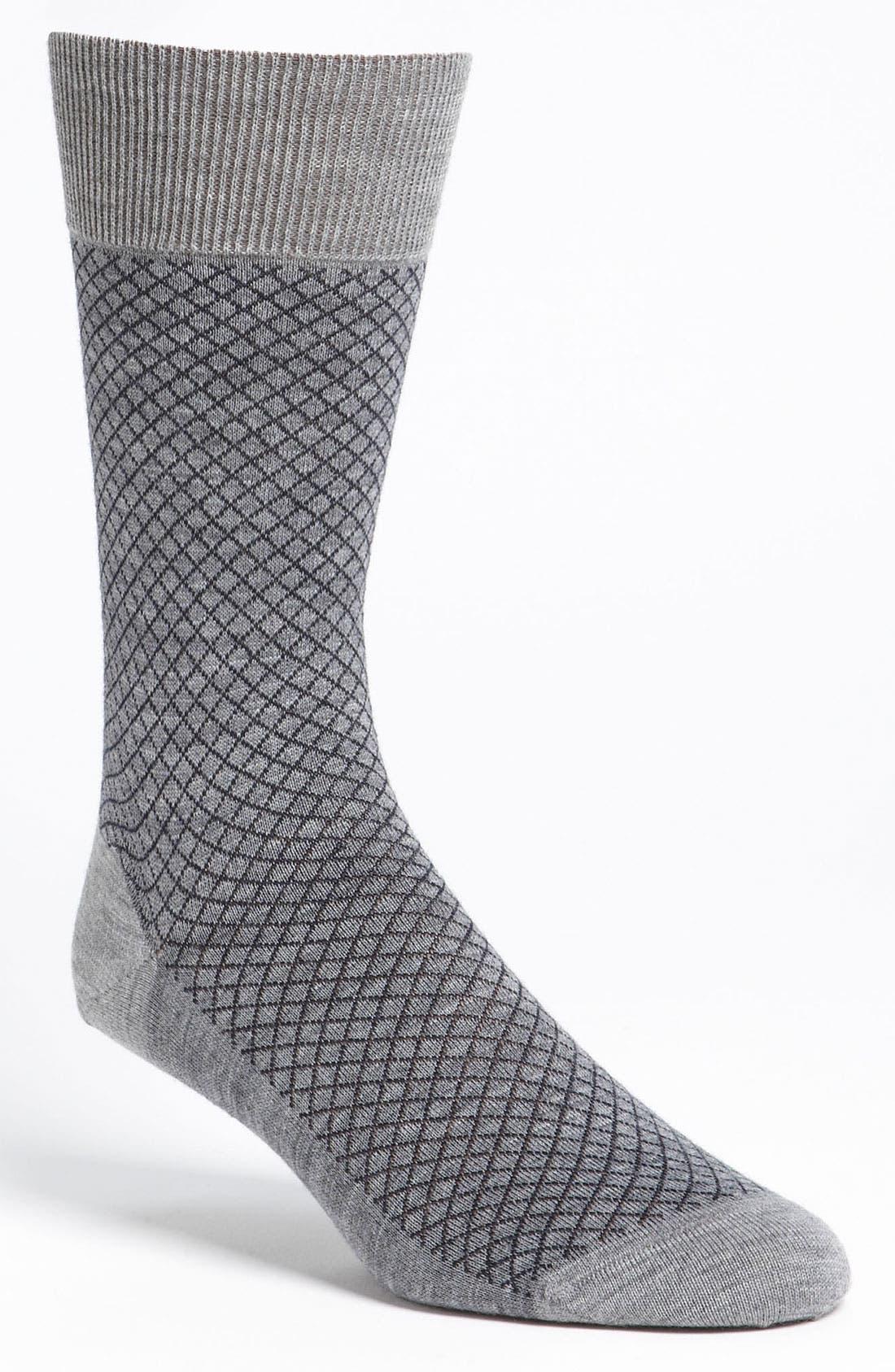 Alternate Image 1 Selected - Ermenegildo Zegna Micro Check Socks