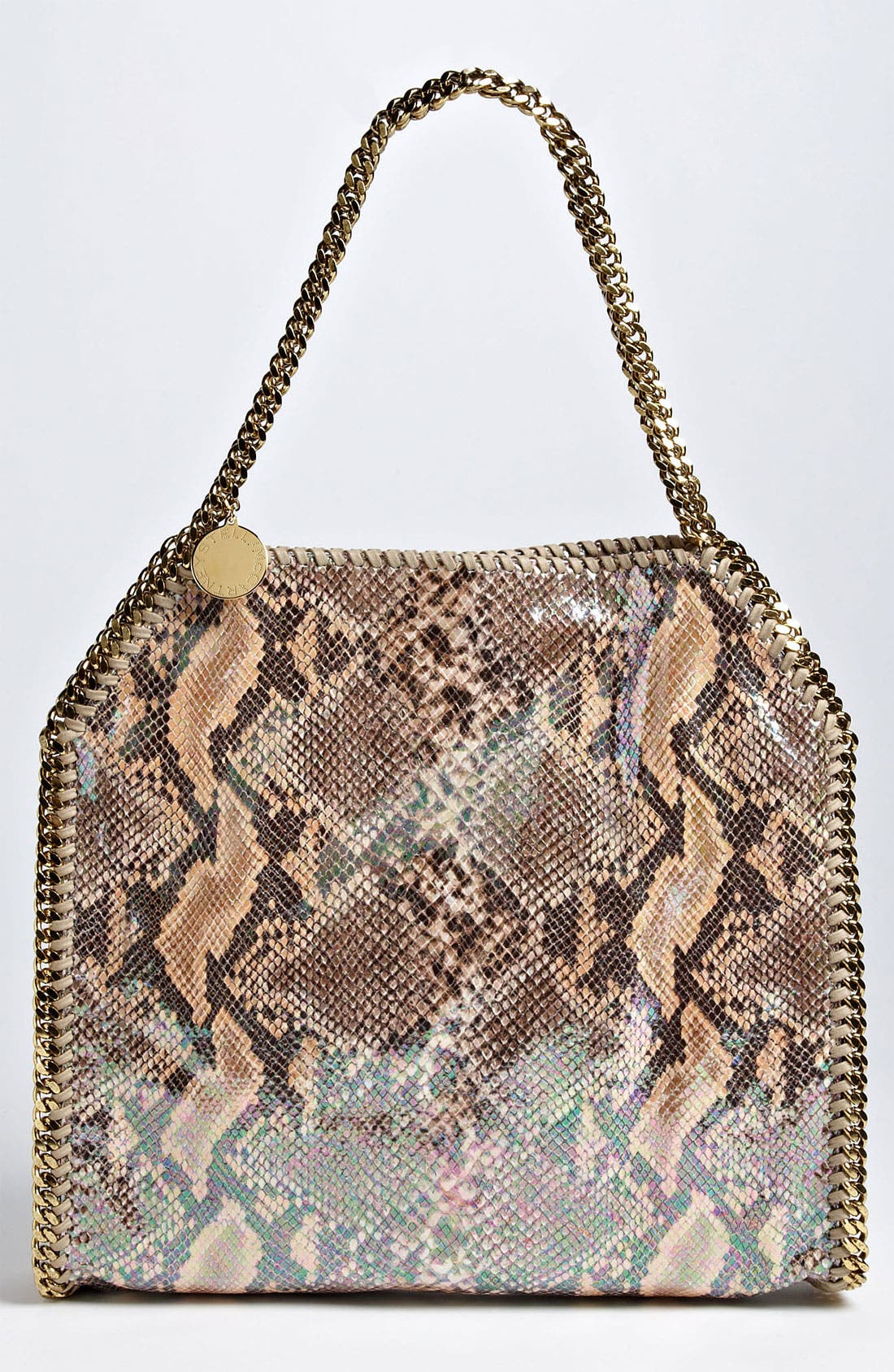 Alternate Image 1 Selected - Stella McCartney 'Falabella - Small' Oleographic Faux Python Tote
