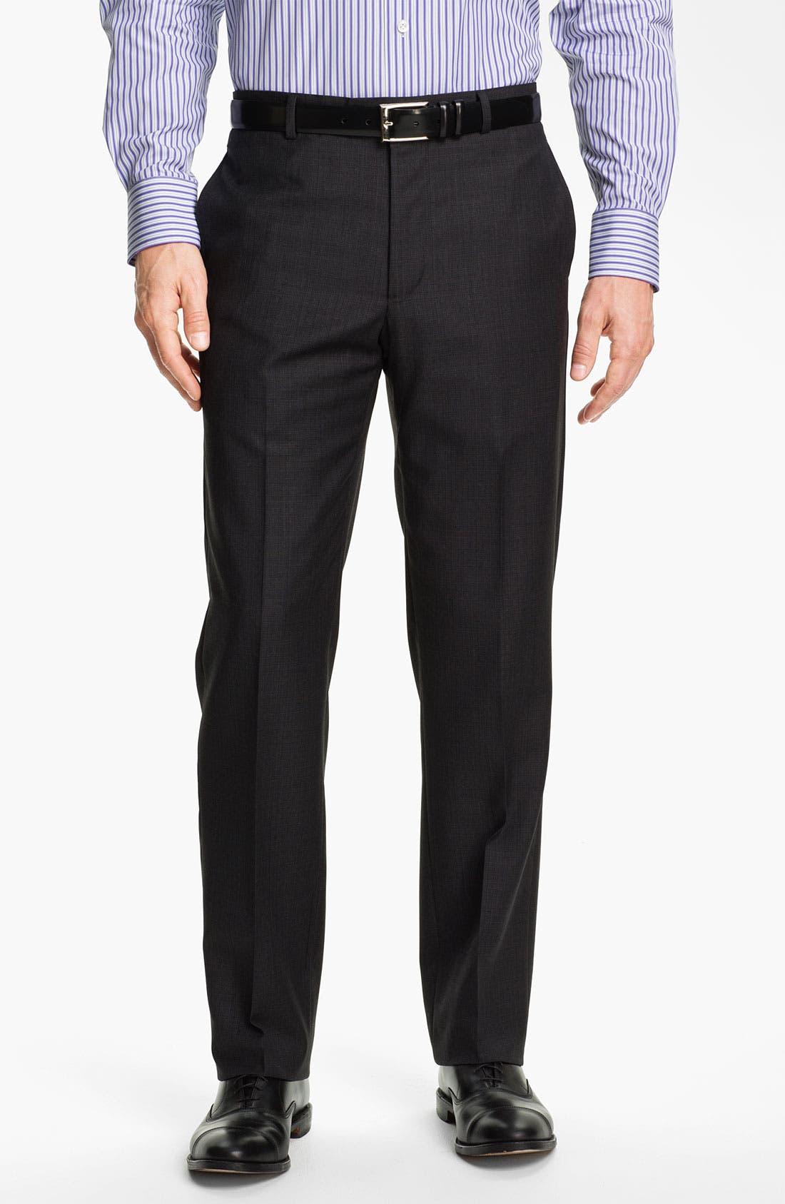 Alternate Image 4  - Joseph Abboud Charcoal Plaid Wool Suit