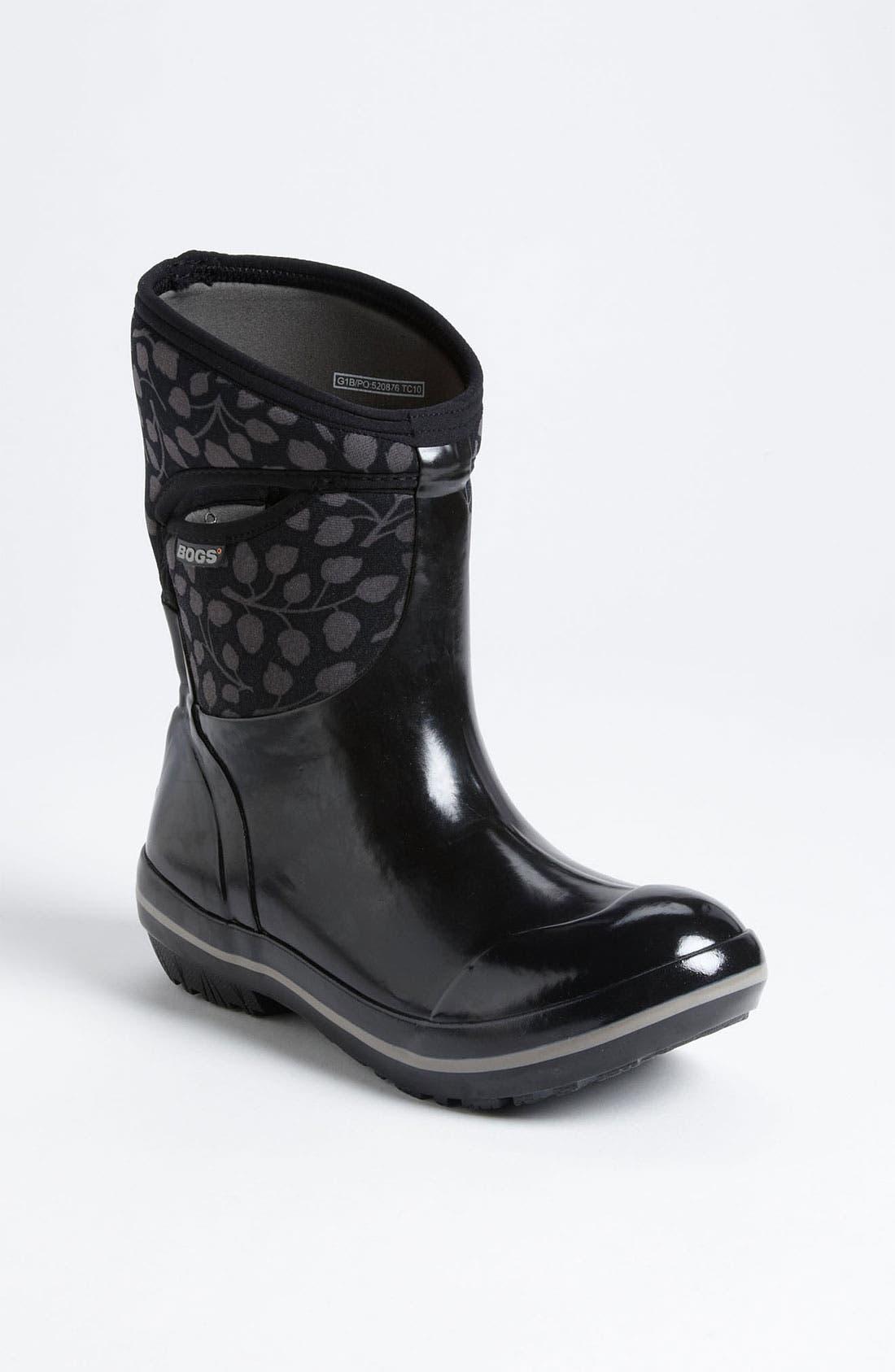 Alternate Image 1 Selected - Bogs 'Plimsoll Mid Leaf' Rain Boot (Women)