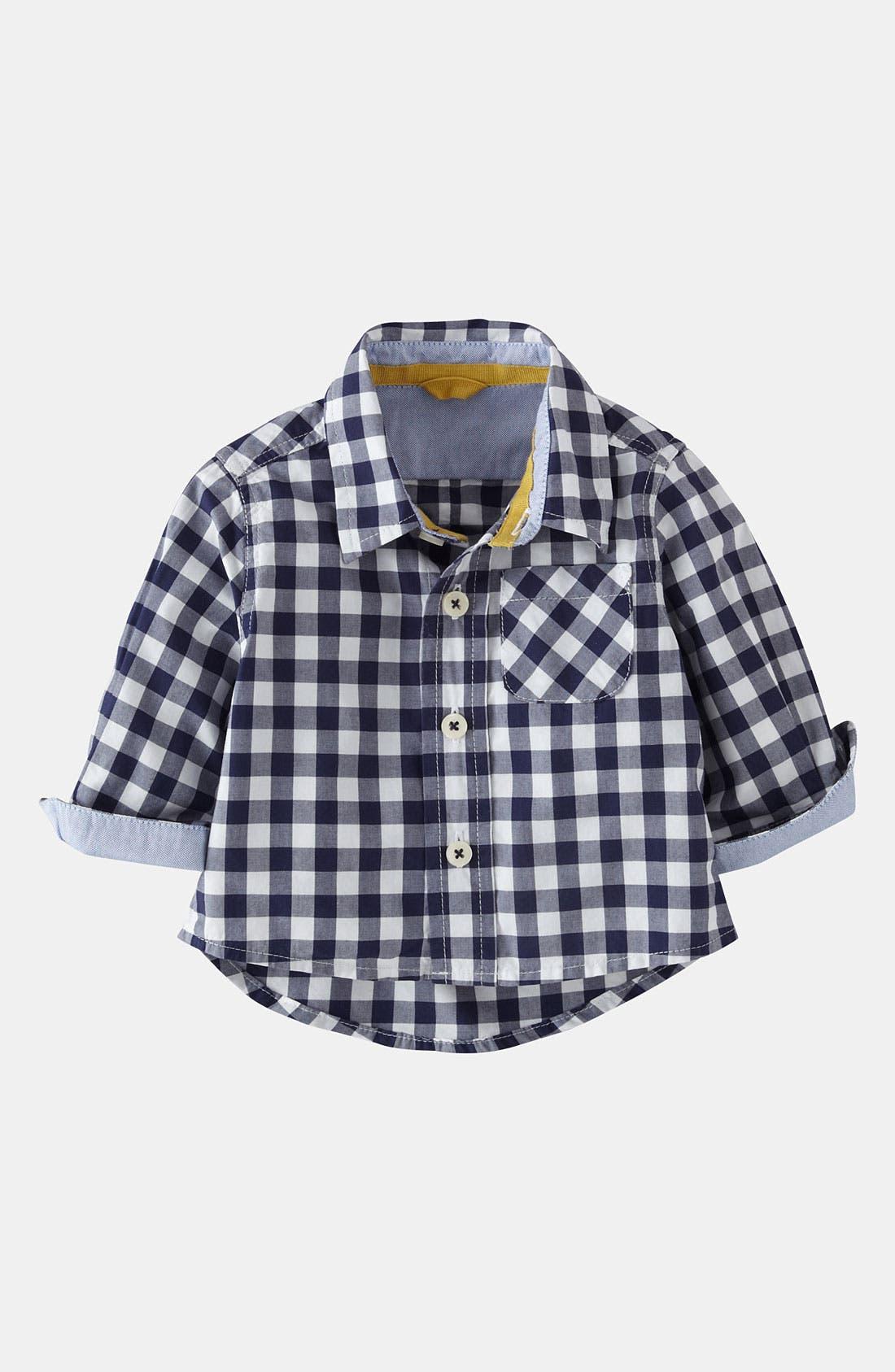 Main Image - Mini Boden 'Baby' Shirt (Baby)