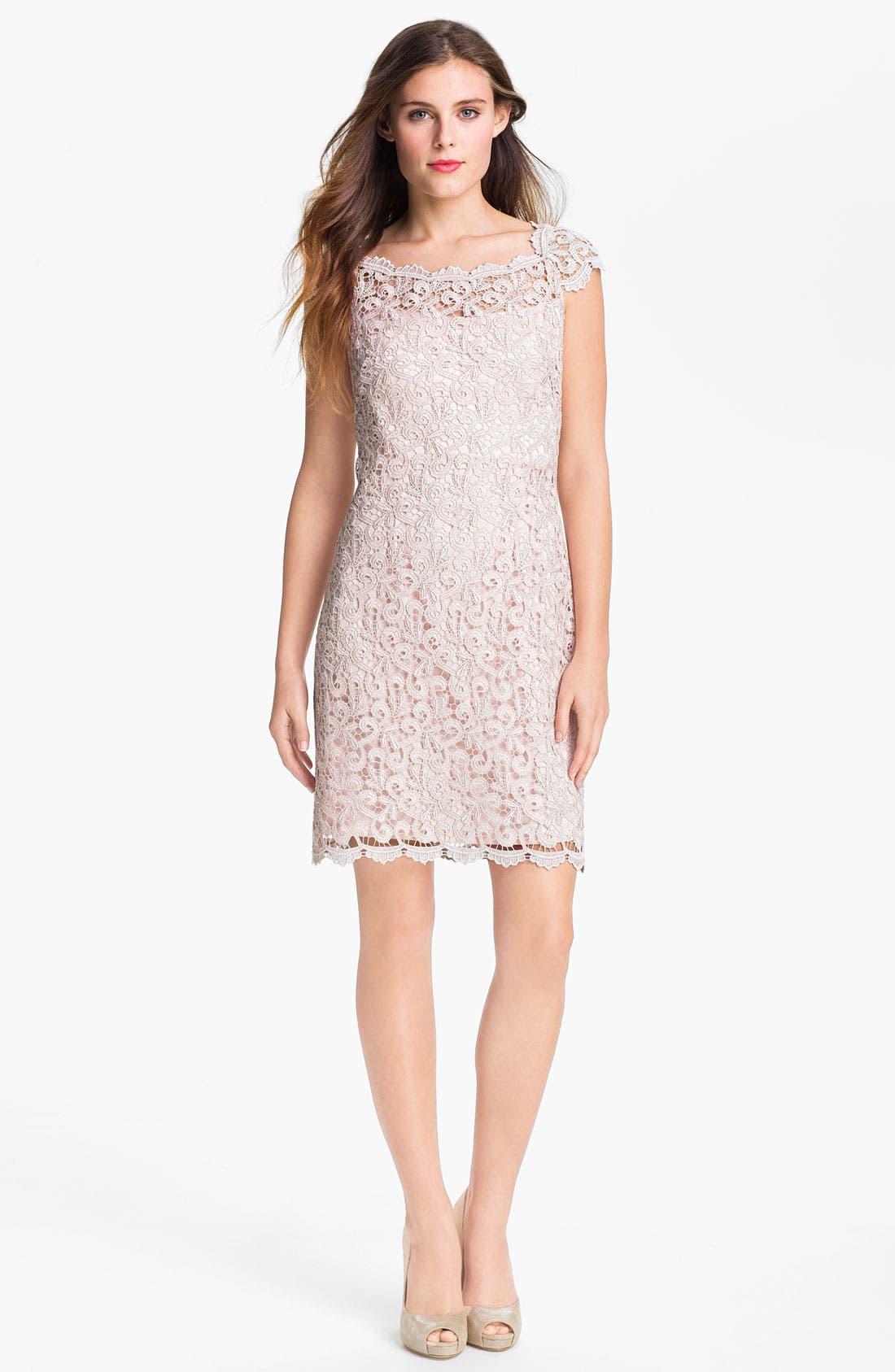 Main Image - Suzi Chin for Maggy Boutique Scalloped Lace Sheath Dress