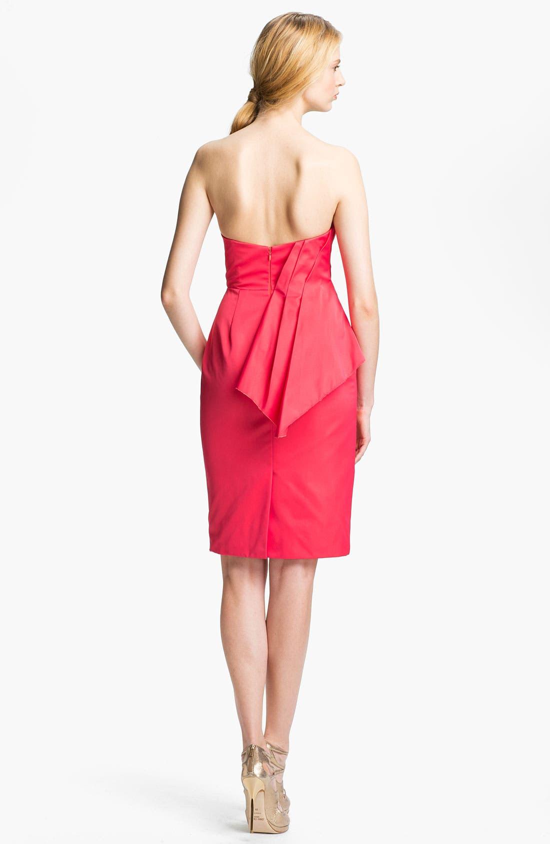 Alternate Image 2  - Lela Rose Strapless Dress