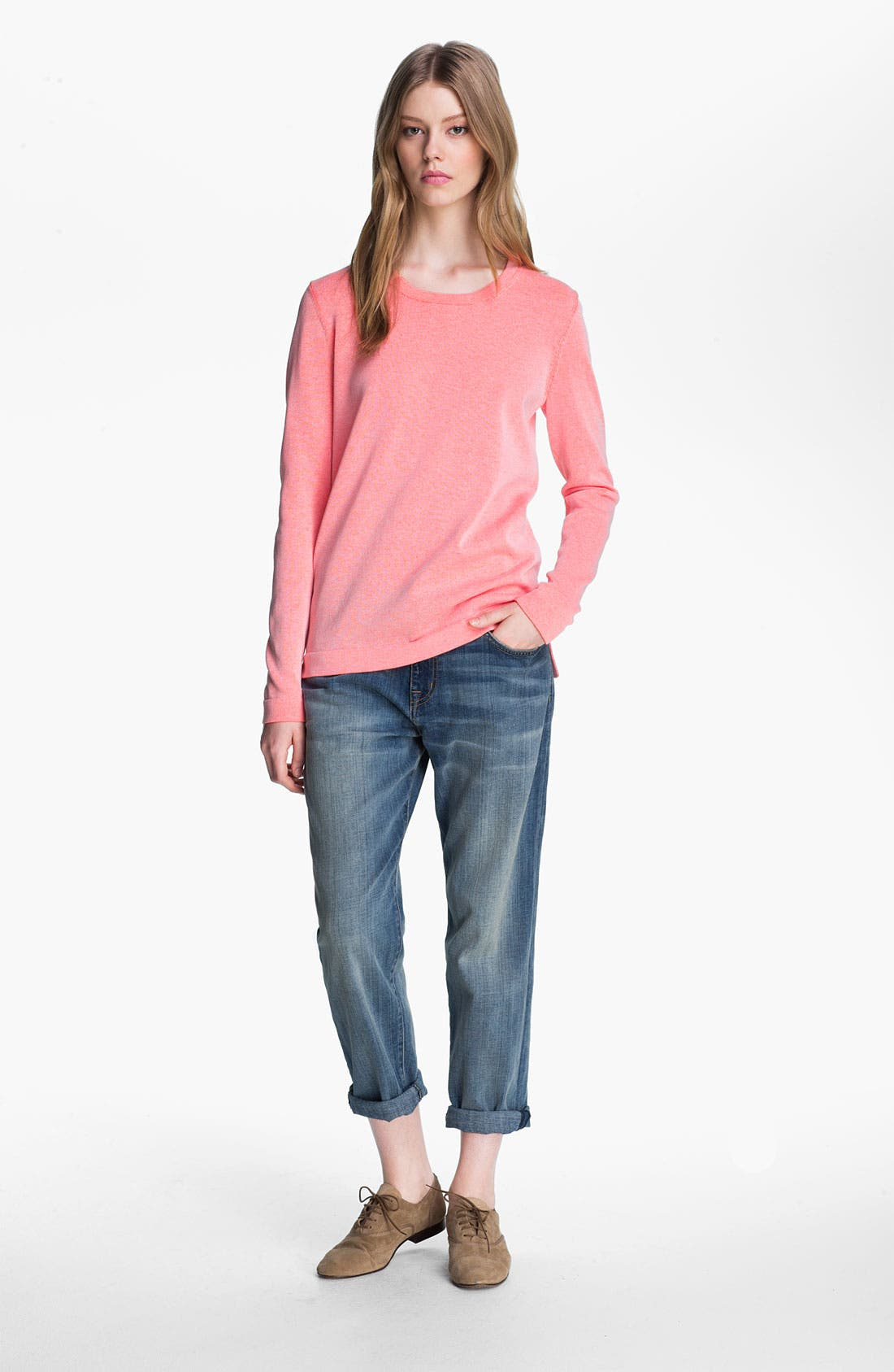Alternate Image 2  - Tibi Reversible Neon Plaited Sweatshirt