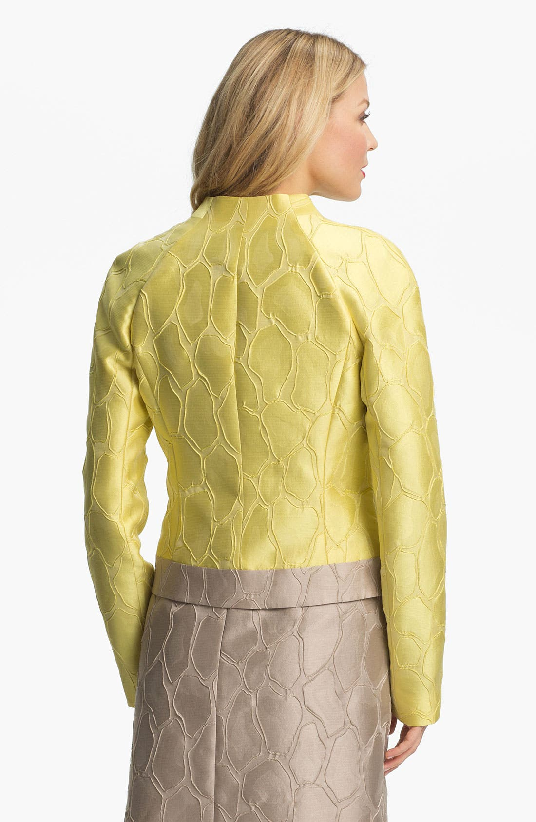 Alternate Image 2  - Lafayette 148 New York 'Mala' Giraffe Jacquard Jacket