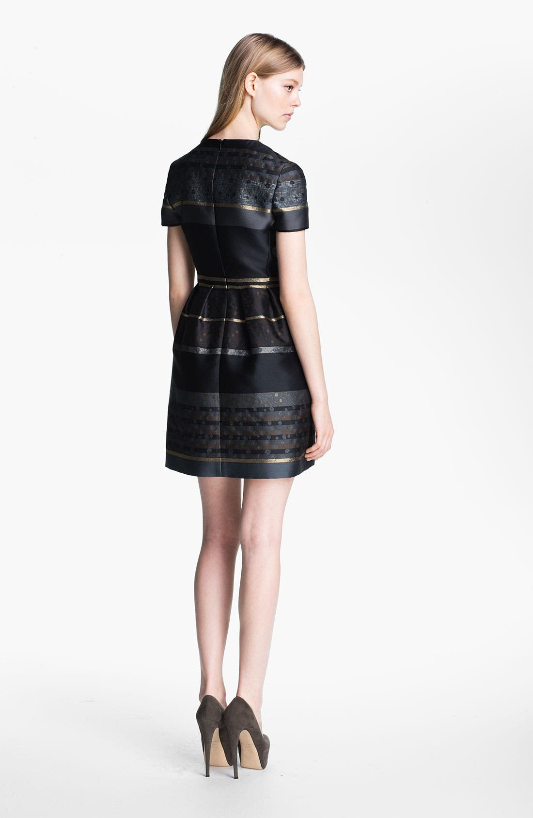 Alternate Image 2  - Victoria, Victoria Beckham Stripe Jacquard Dress