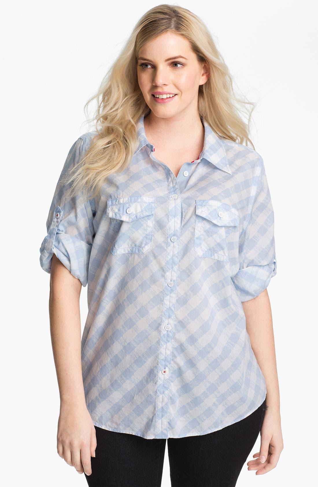 Alternate Image 1 Selected - Shirt 469 'Picnic Plaid' Cotton Shirt (Plus)