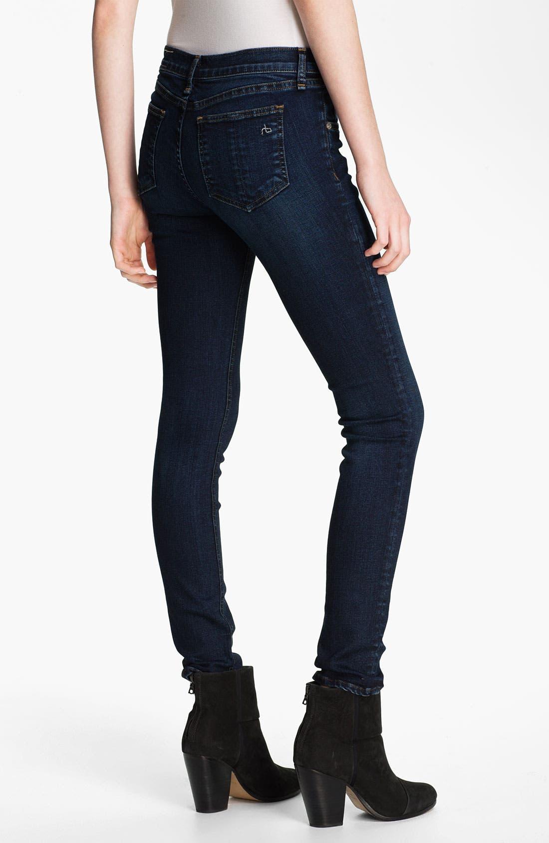 Alternate Image 2  - rag & bone/JEAN Skinny Stretch Jeans (Woodford)