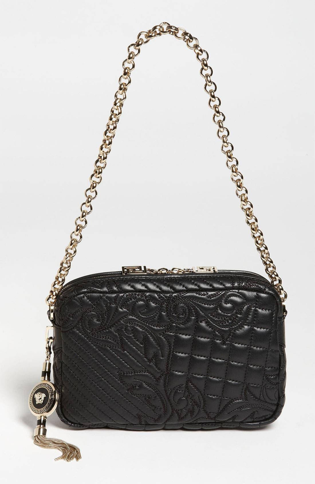 Alternate Image 1 Selected - Versace 'Vanitas' Embroidered Leather Shoulder Bag