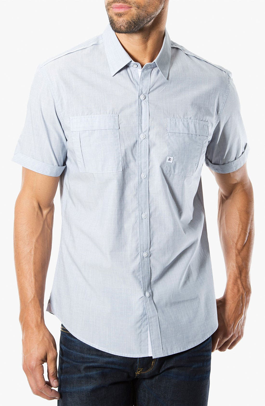 Alternate Image 1 Selected - 7 Diamonds 'Perfect Way' Short Sleeve Woven Sport Shirt