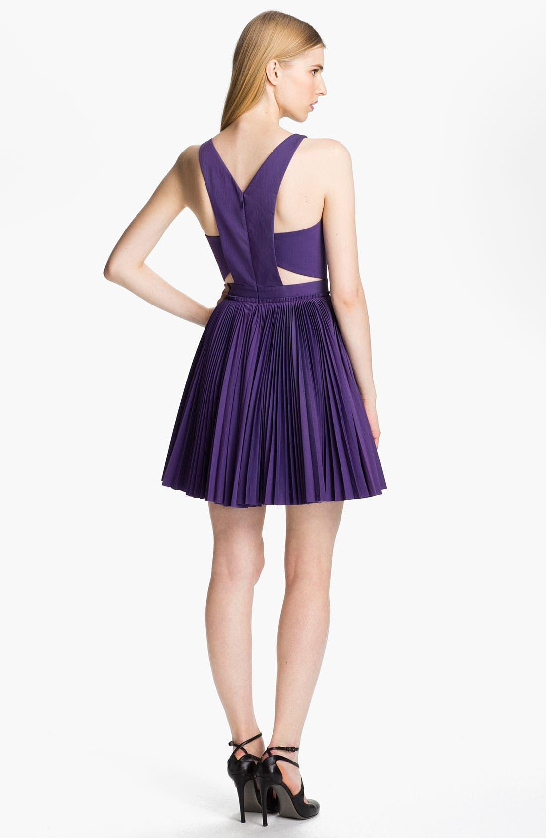 Alternate Image 2  - Robert Rodriguez Cutout & Pleated Dress