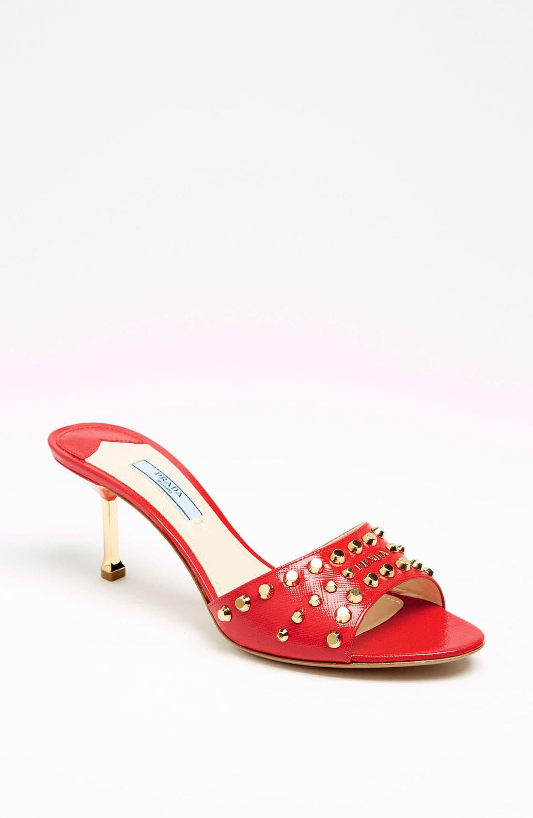 Alternate Image 1 Selected - Prada Studded Slide Sandal