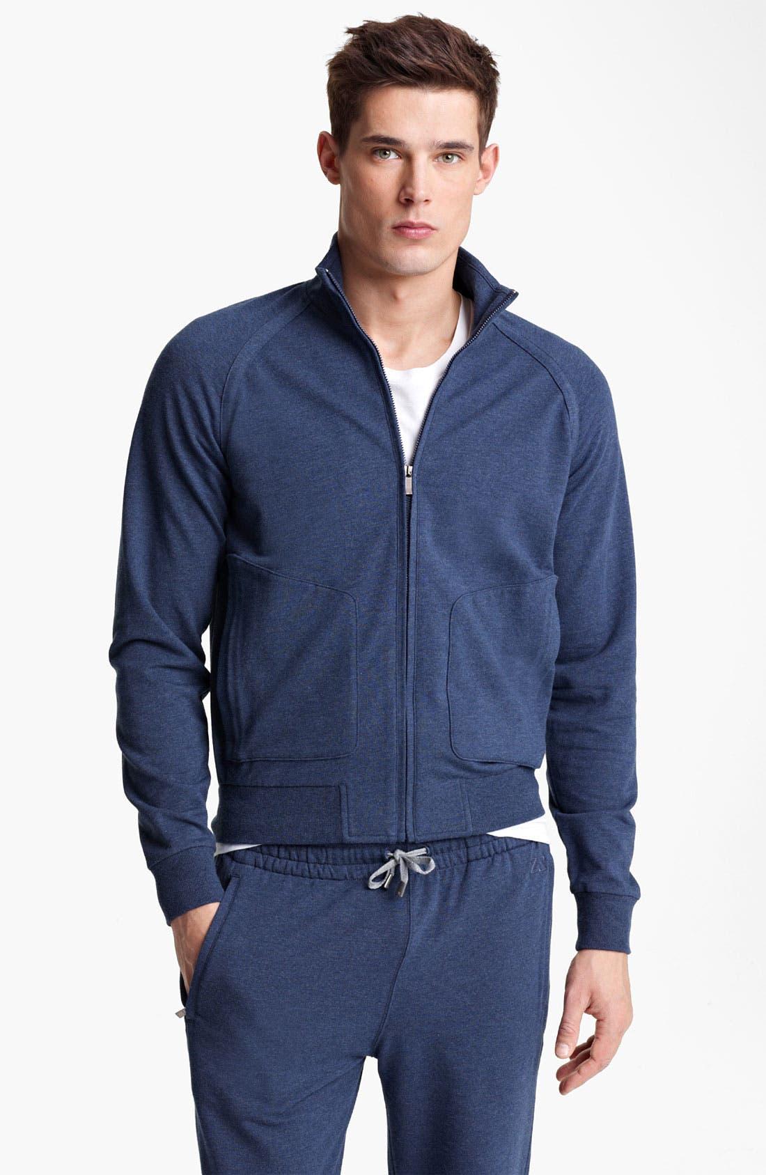 Alternate Image 1 Selected - Zegna Sport Zip Front Sweatshirt