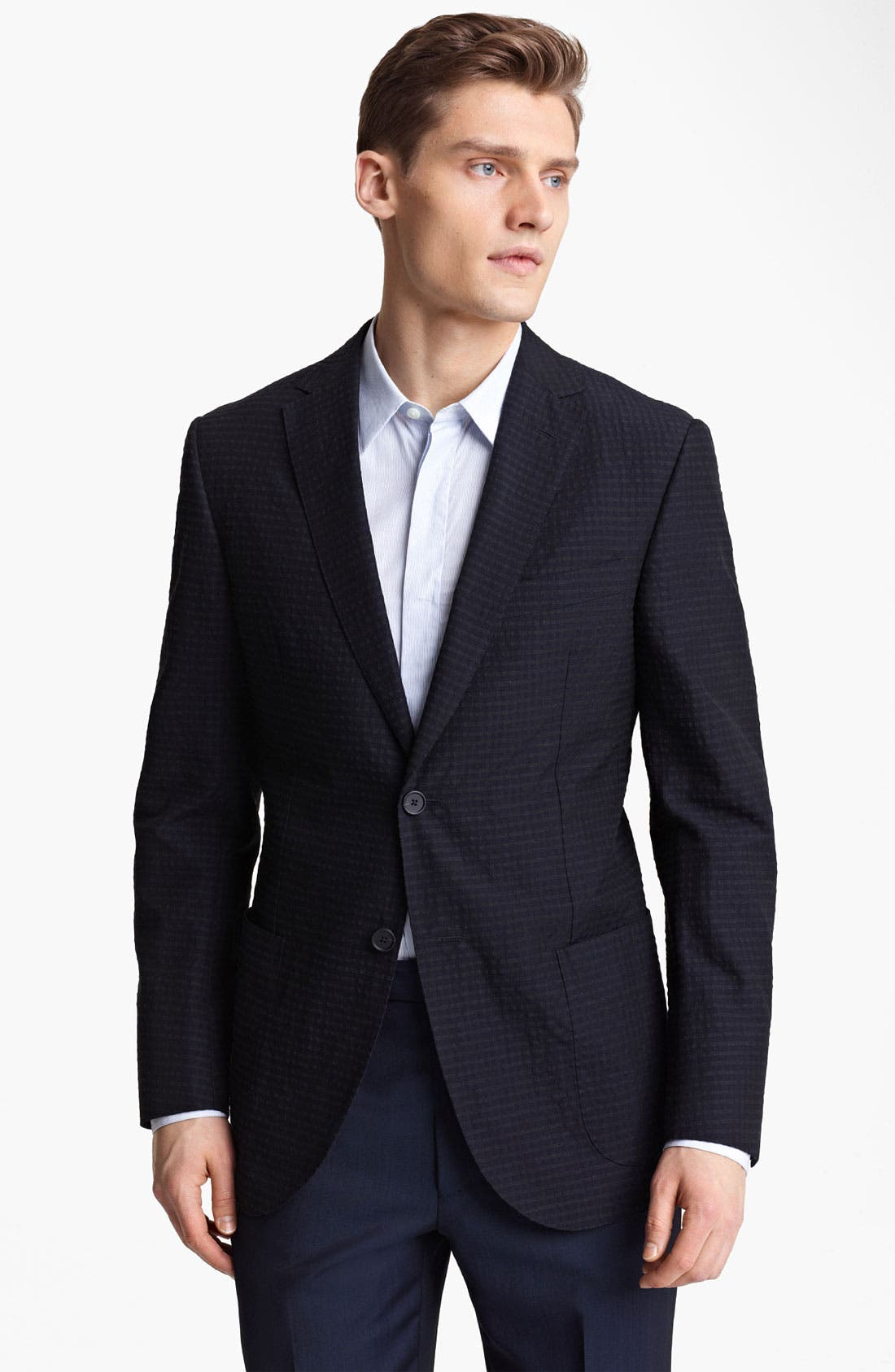 Alternate Image 1 Selected - Z Zegna Trim Fit Seersucker Sportcoat