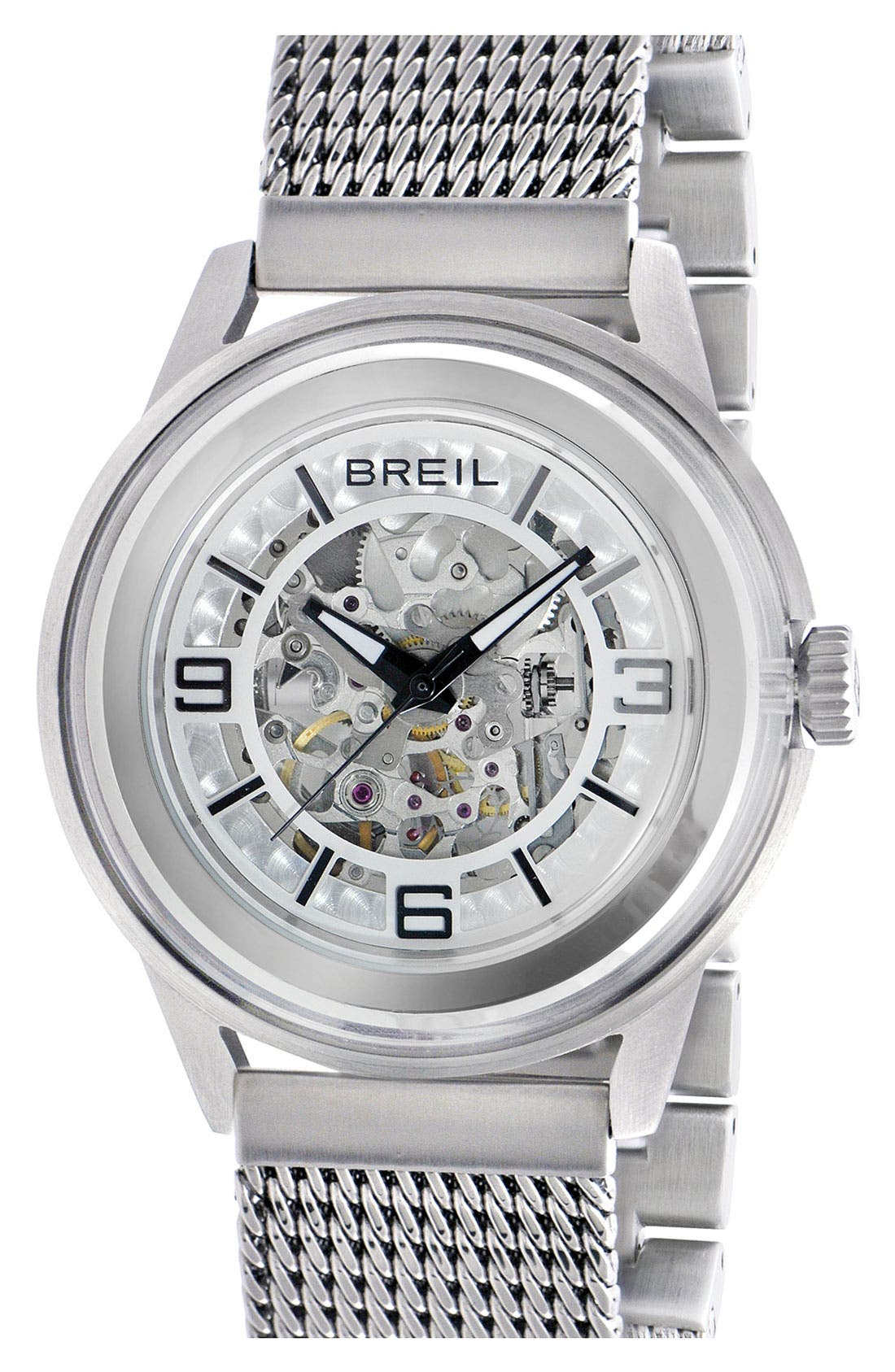 Main Image - Breil 'Orchestra' Round Automatic Watch, 45mm