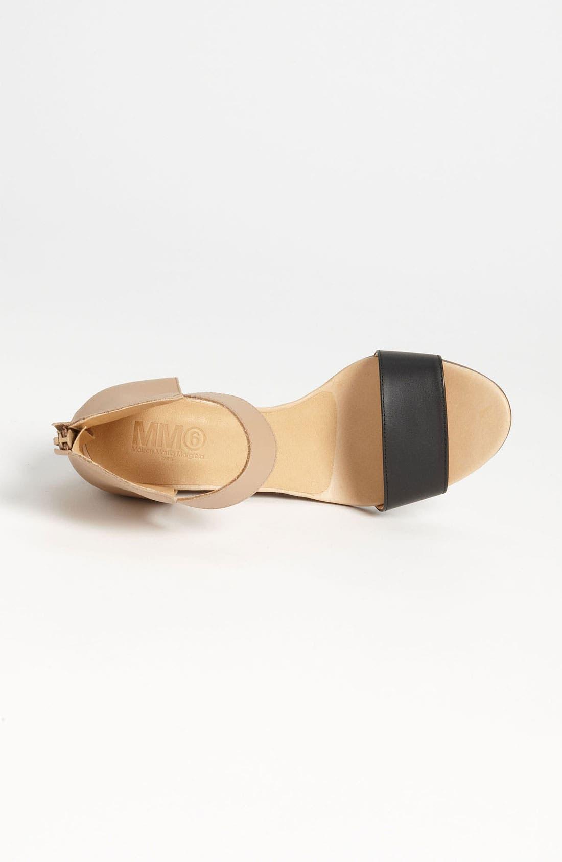 Alternate Image 3  - MM6 Maison Margiela Two Tone Wedge Sandal