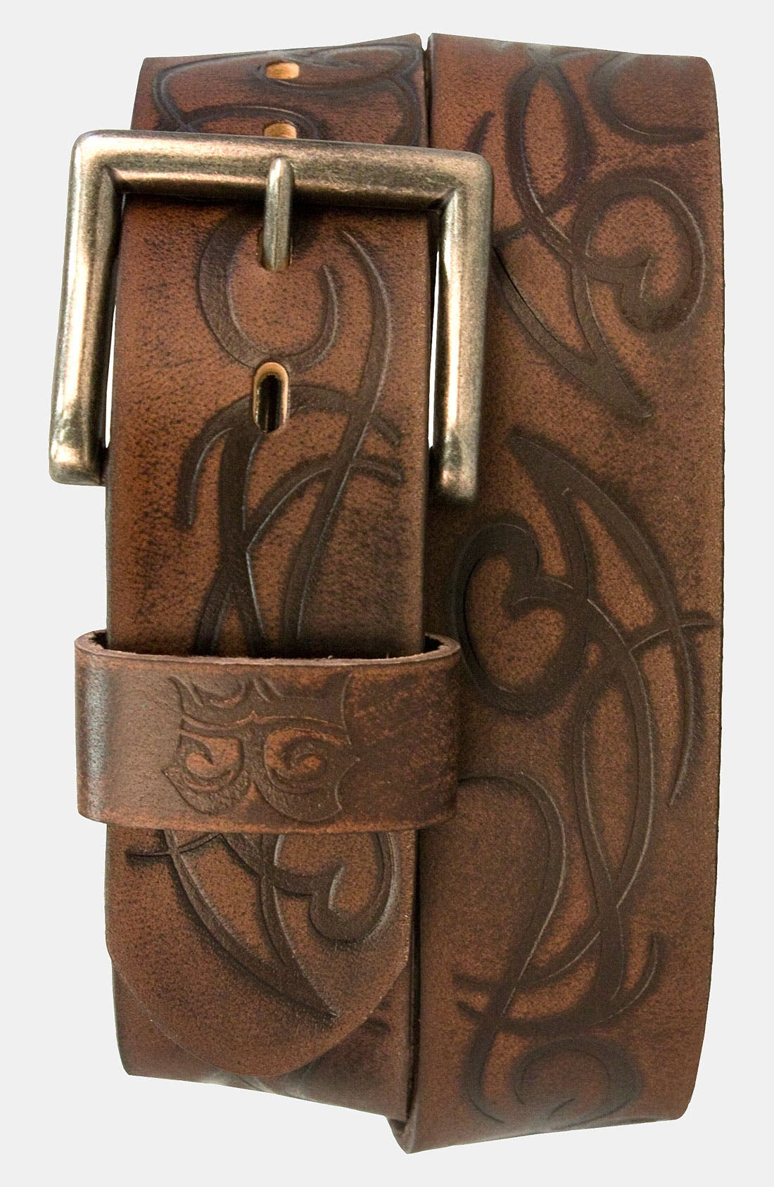 Alternate Image 1 Selected - Bed Stu 'River' Laser Etched Leather Belt