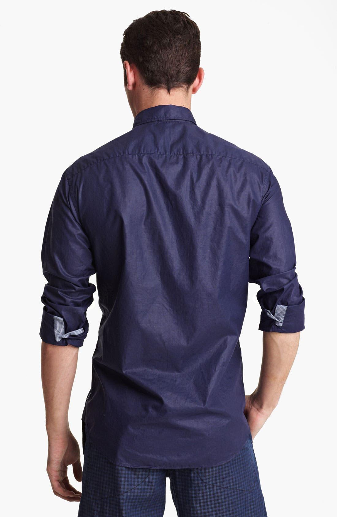Alternate Image 2  - Armani Collezioni Micro Houndstooth Sport Shirt