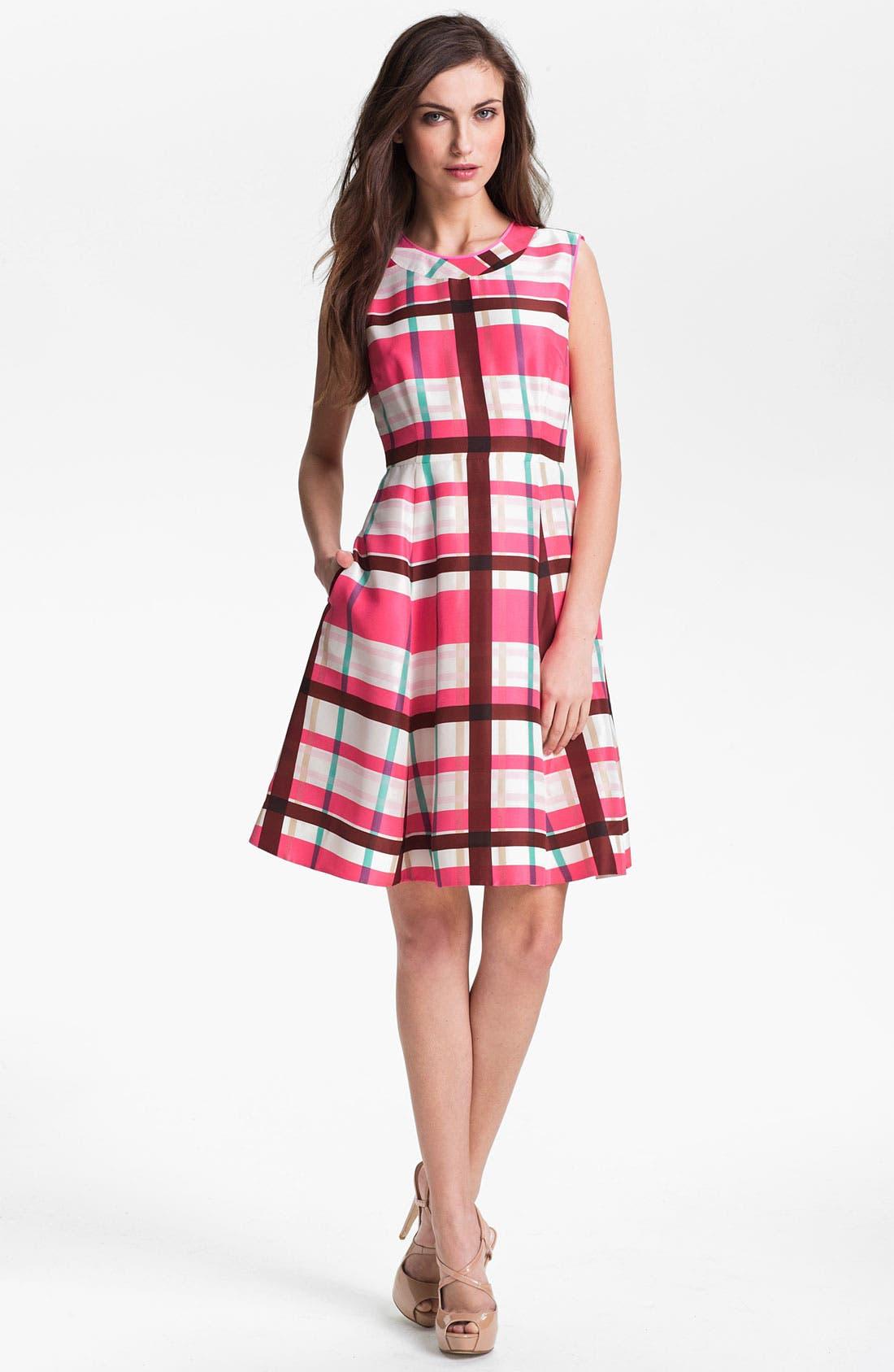 Main Image - kate spade new york 'felix' silk fit & flare dress