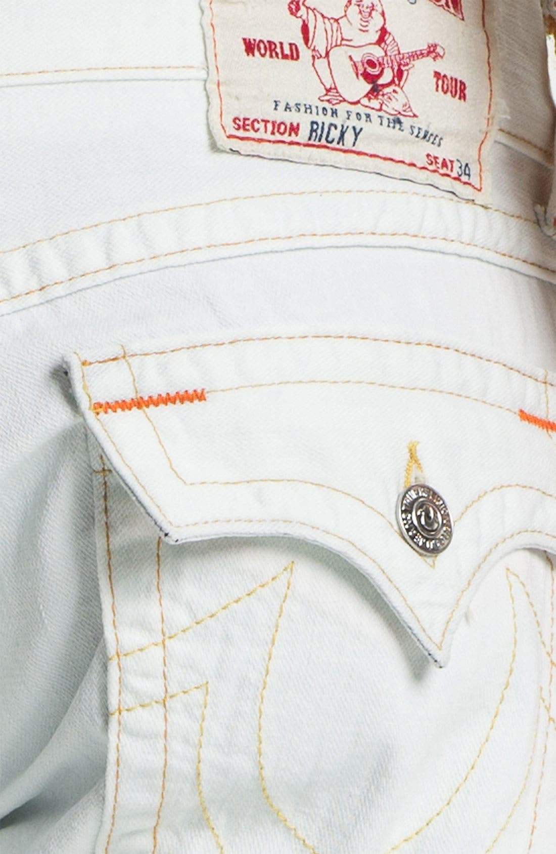 Alternate Image 4  - True Religion Brand Jeans 'Ricky' Straight Leg Jeans (Bleached) (Online Exclusive)