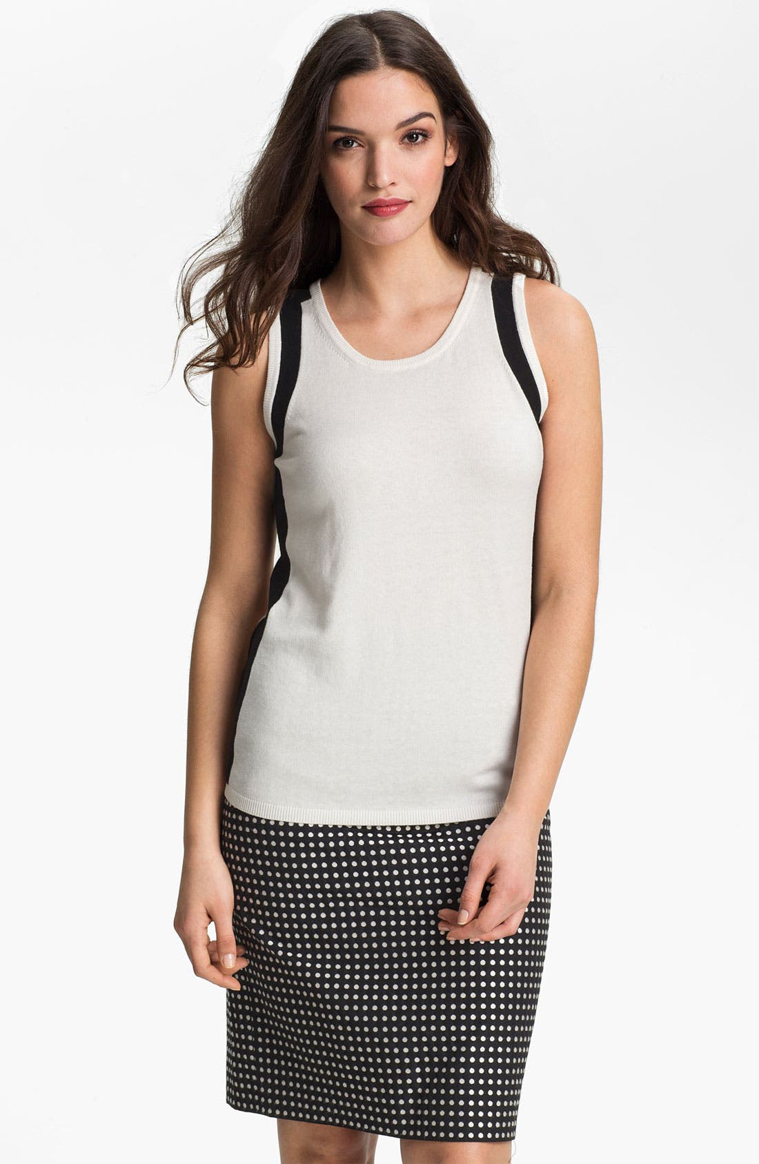 Alternate Image 1 Selected - Anne Klein Colorblock Sleeveless Top