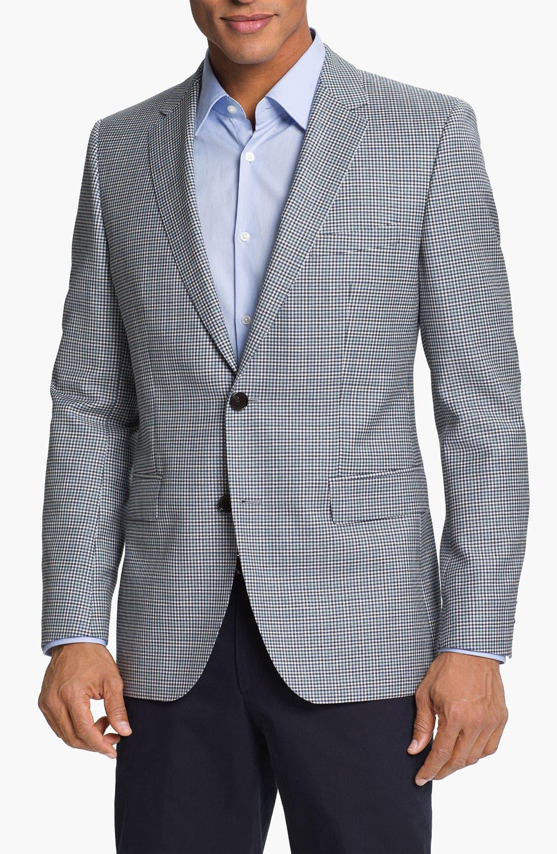 Alternate Image 1 Selected - BOSS HUGO BOSS 'James' Trim Fit Check Sportcoat