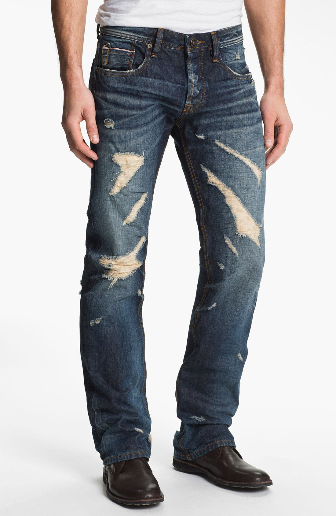 Alternate Image 1 Selected - Cult of Individuality 'Hagen' Relaxed Straight Leg Jeans (15 Year Indigo)