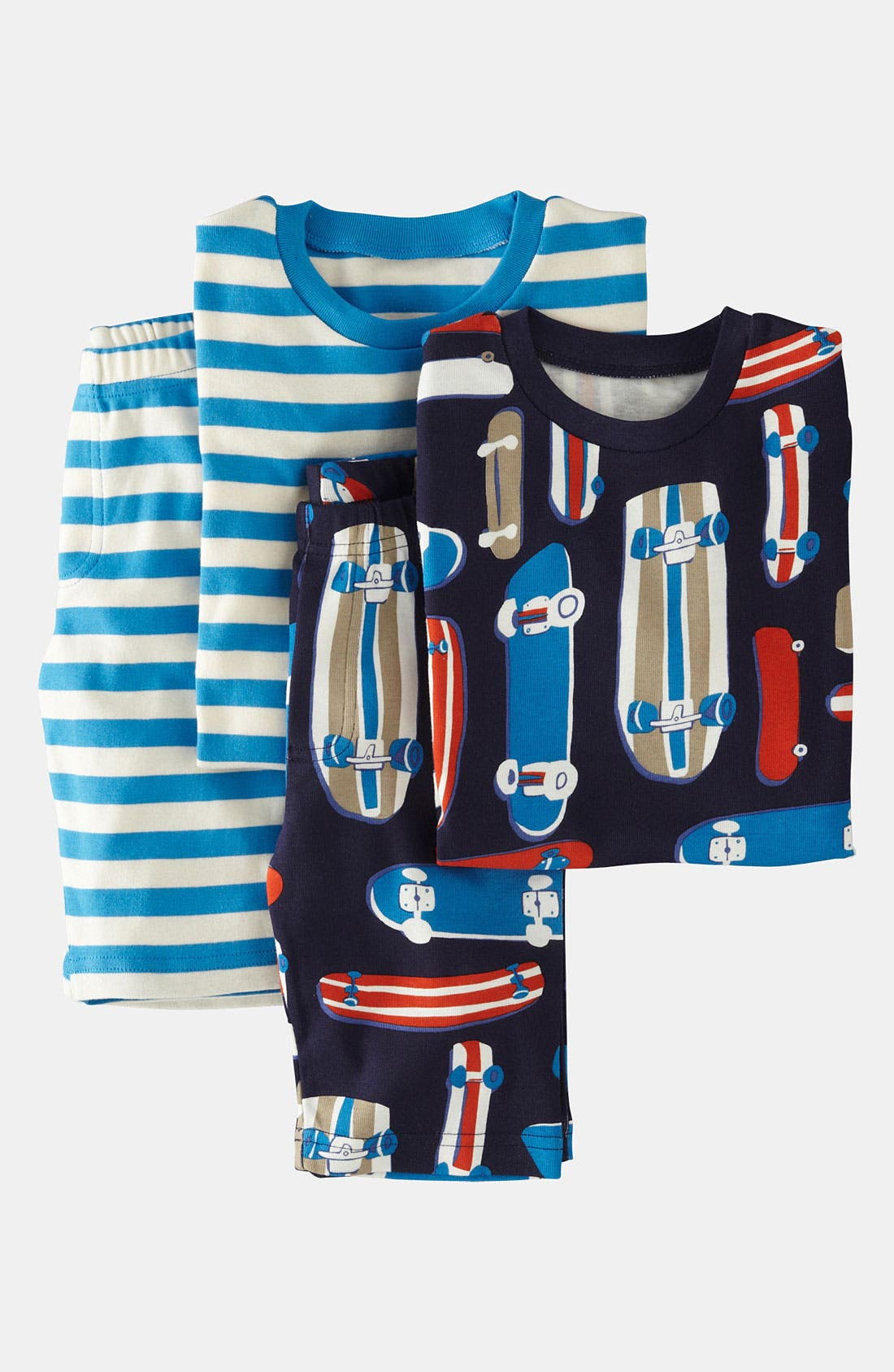 Main Image - Mini Boden Two Piece Fitted Pajamas (2-Pack) (Toddler, Little Boys & Big Boys)