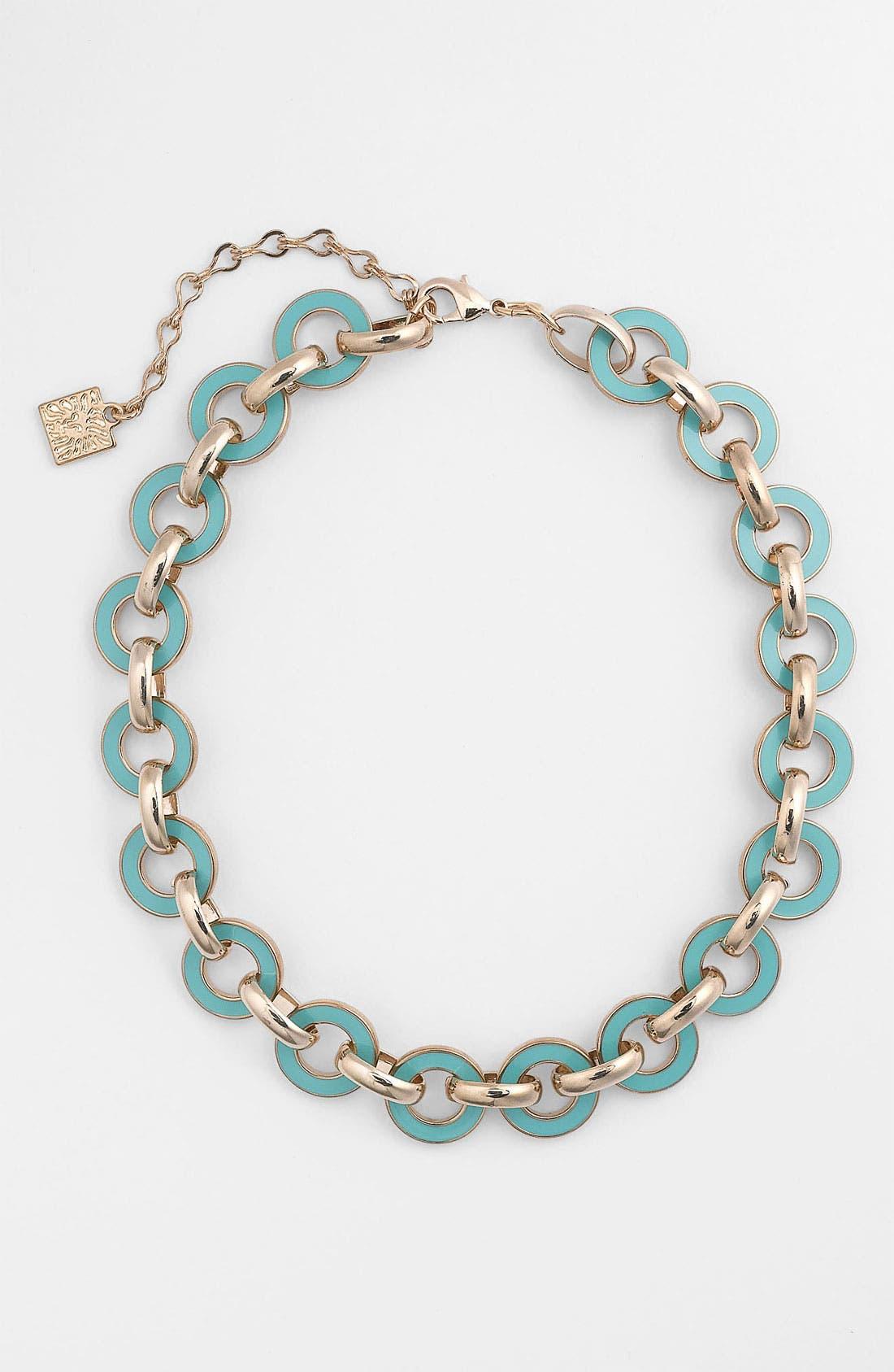 Alternate Image 1 Selected - Anne Klein Enamel Link Necklace