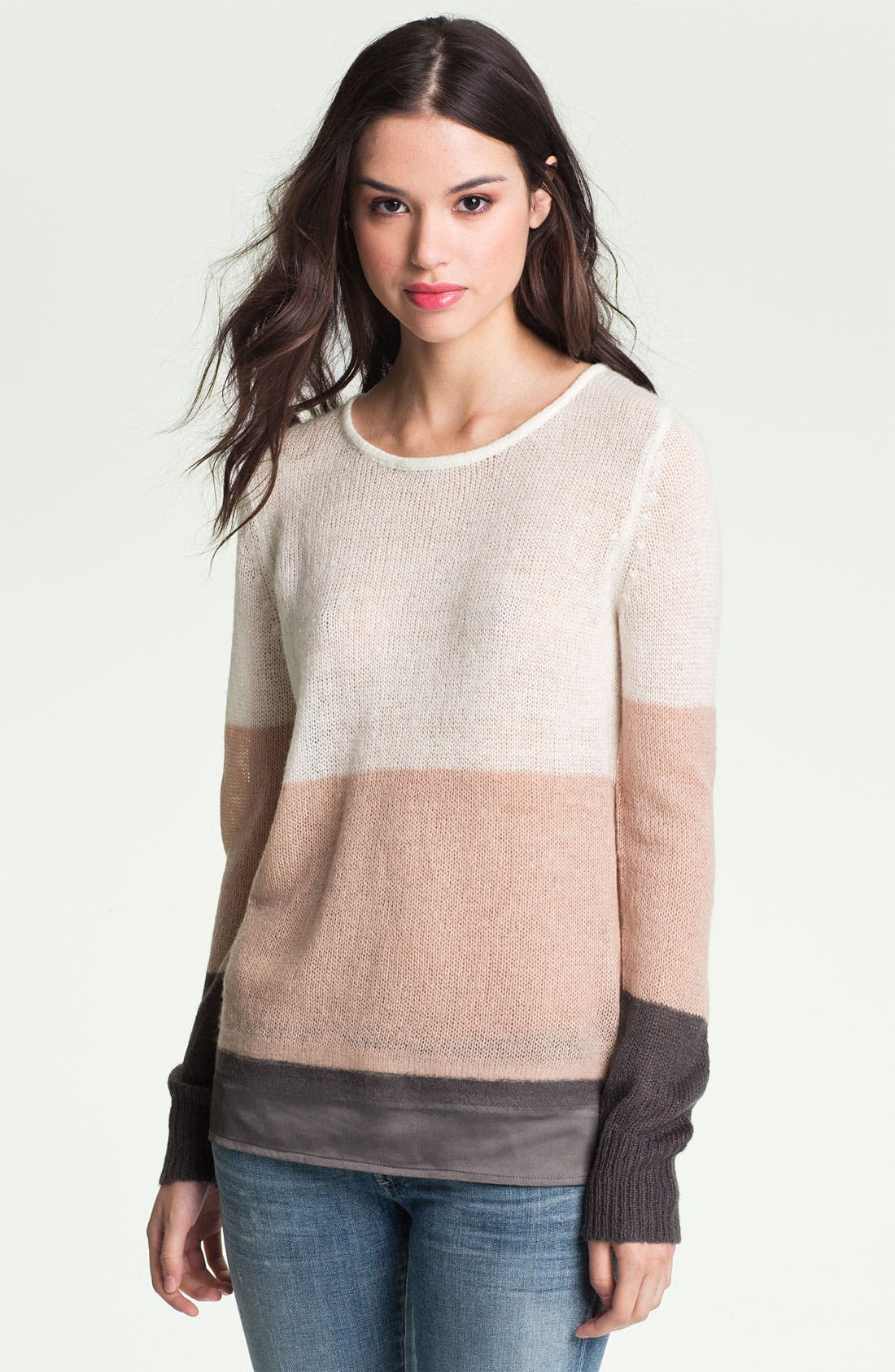Alternate Image 1 Selected - Hinge® Satin Needle Punch Sweater
