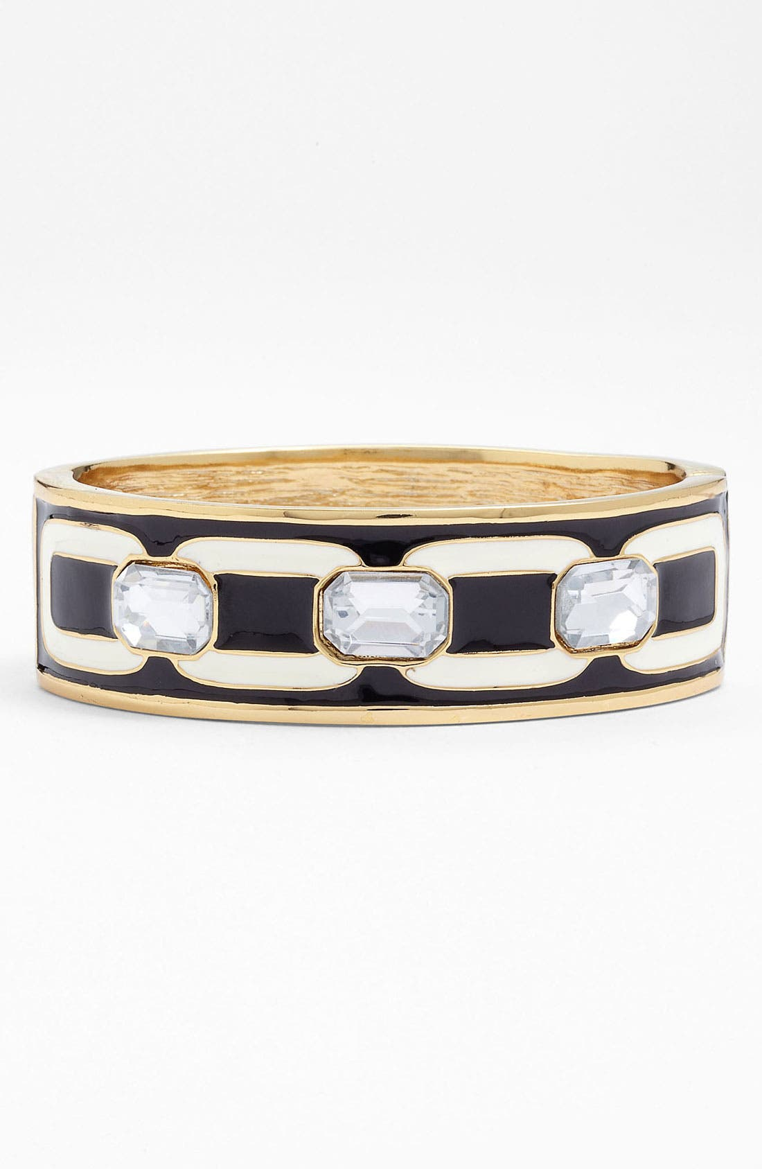 Alternate Image 1 Selected - Anne Klein 'Deco'ed Out' Wide Enamel Bangle