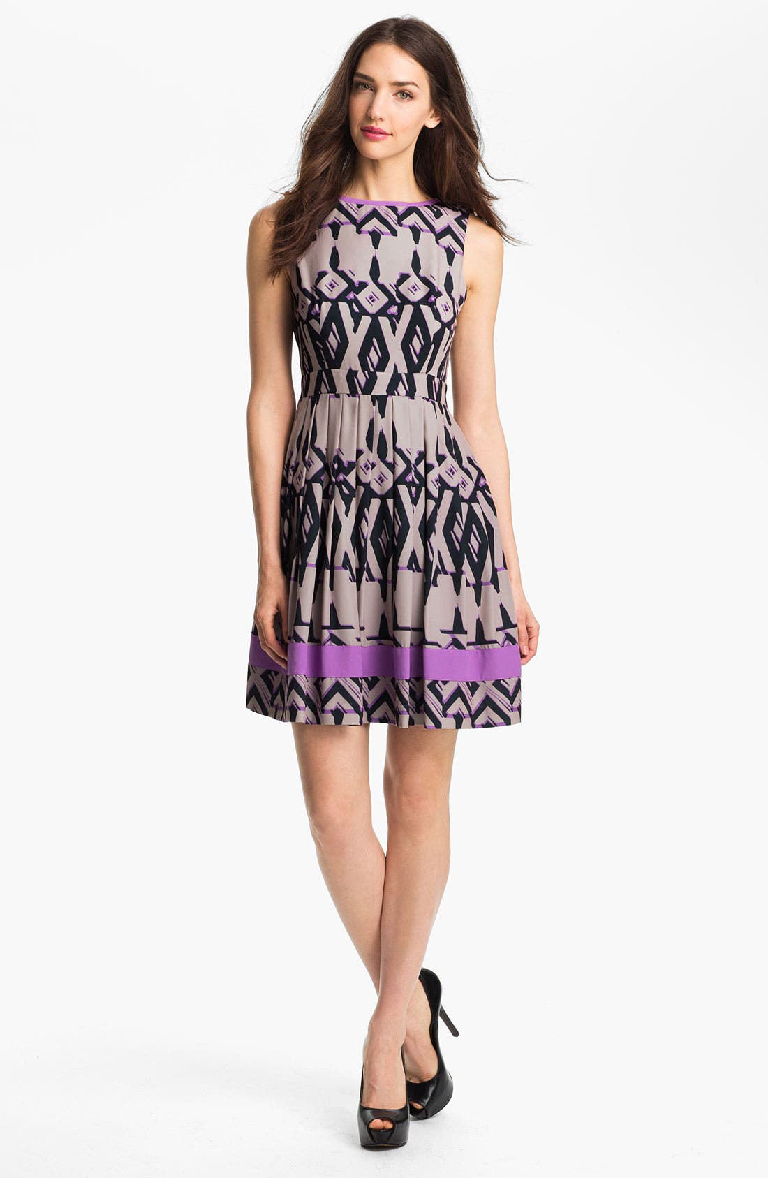 Alternate Image 1 Selected - Jessica Simpson Print Fit & Flare Dress