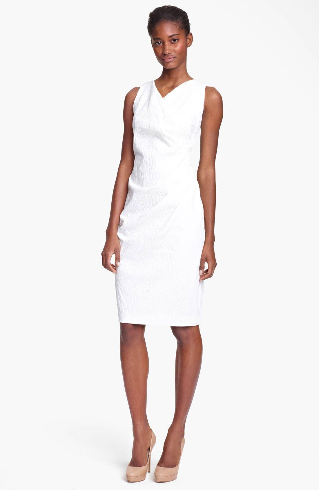 Alternate Image 1 Selected - Max Mara Draped Stretch Jacquard Dress