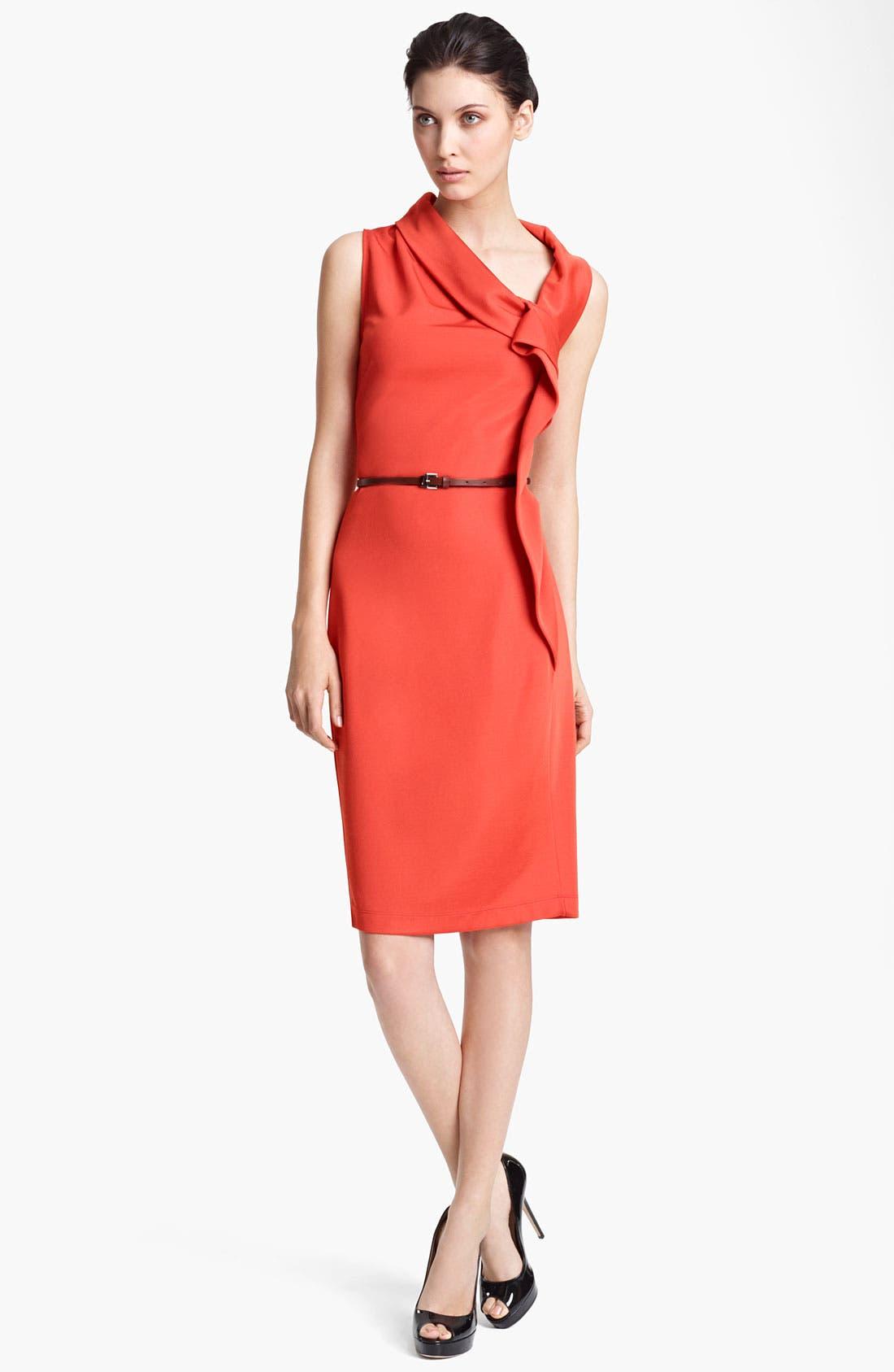 Main Image - Max Mara Belted Side Drape Dress