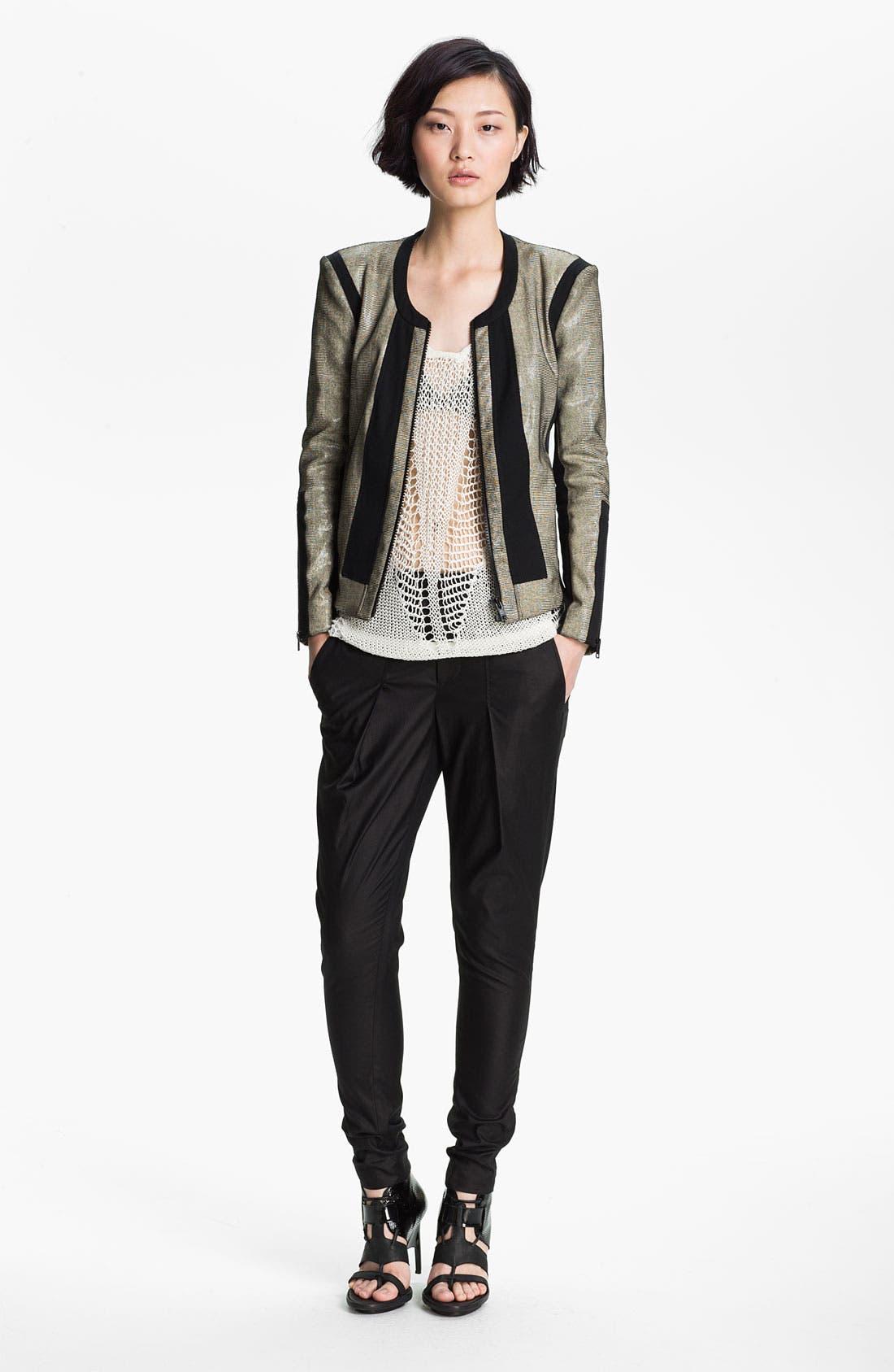 Alternate Image 1 Selected - Helmut Lang 'Rift' Stretch Leather Jacket