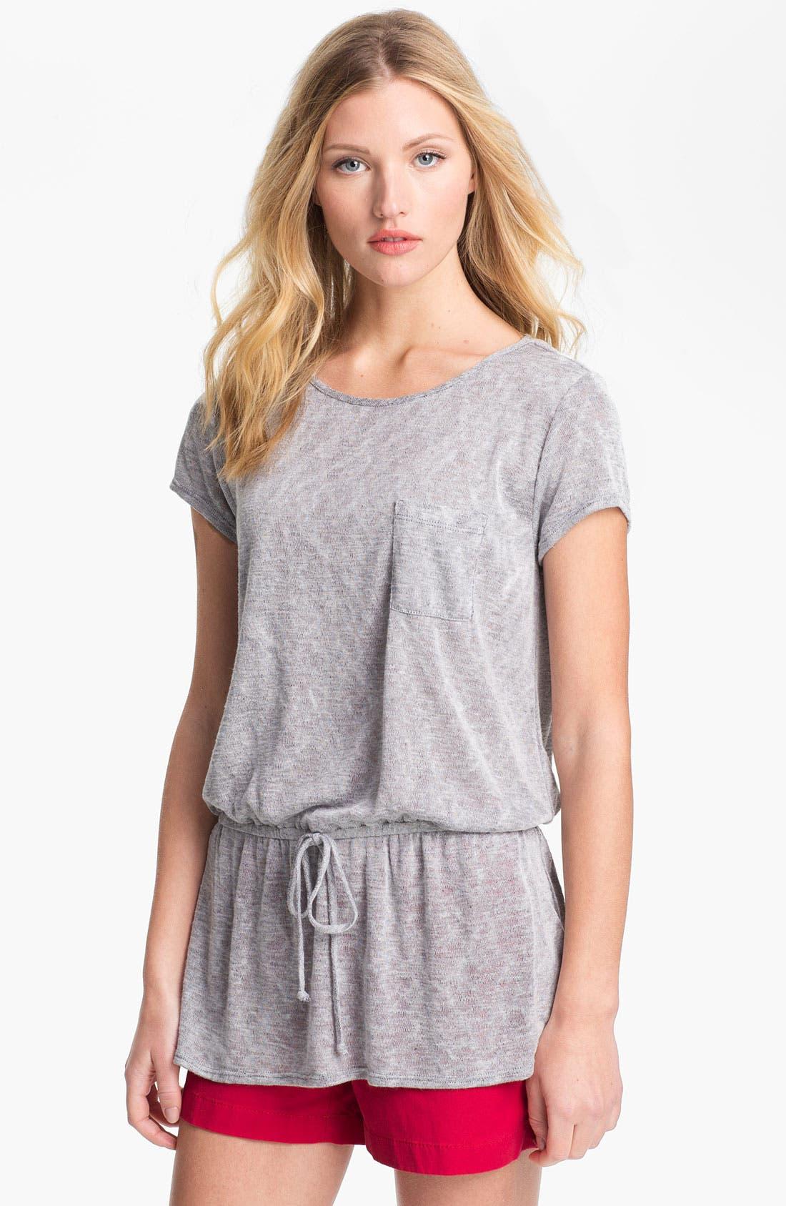 Alternate Image 1 Selected - Bobeau Slub Knit Peplum Sweater