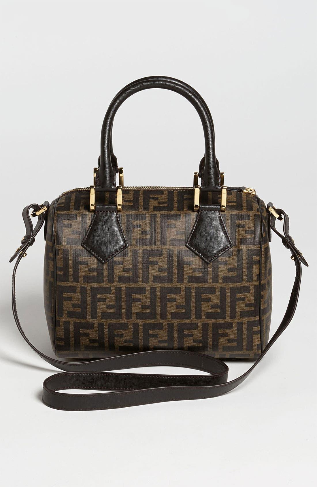Alternate Image 4  - Fendi 'Zucca - Small' Boston Bag
