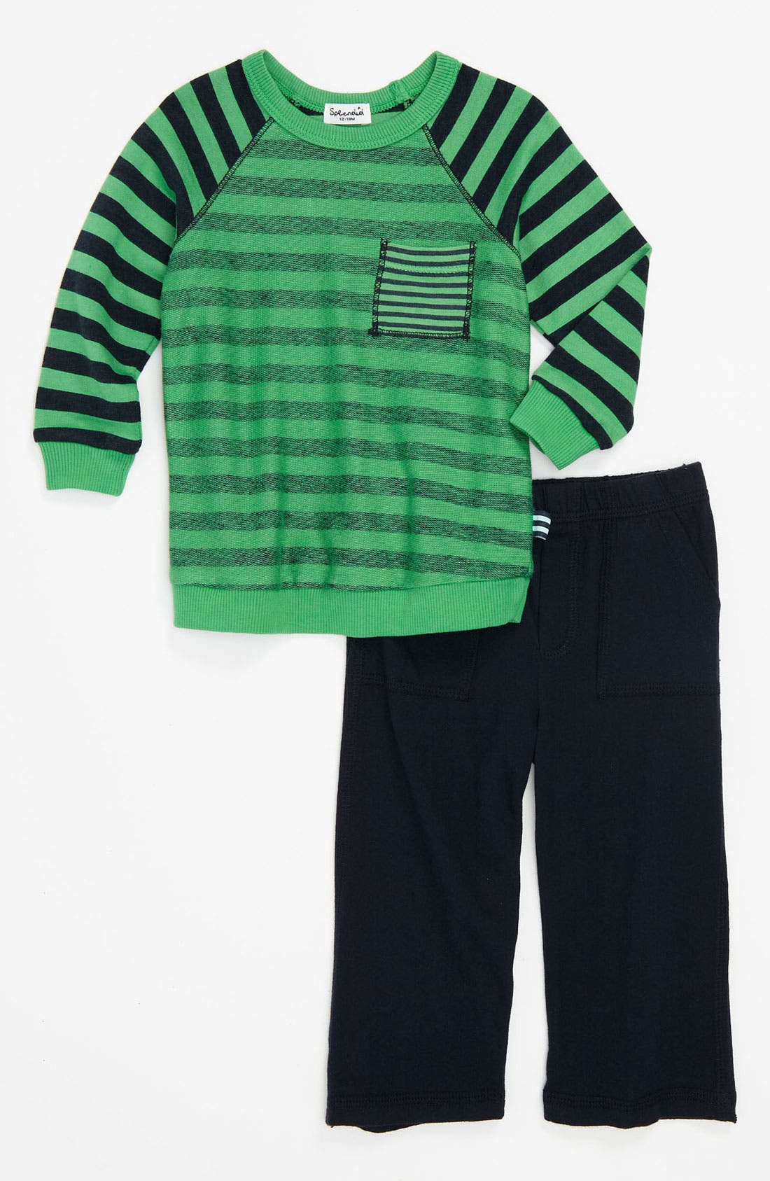 Alternate Image 1 Selected - Splendid Stripe Top & Knit Pants (Infant)