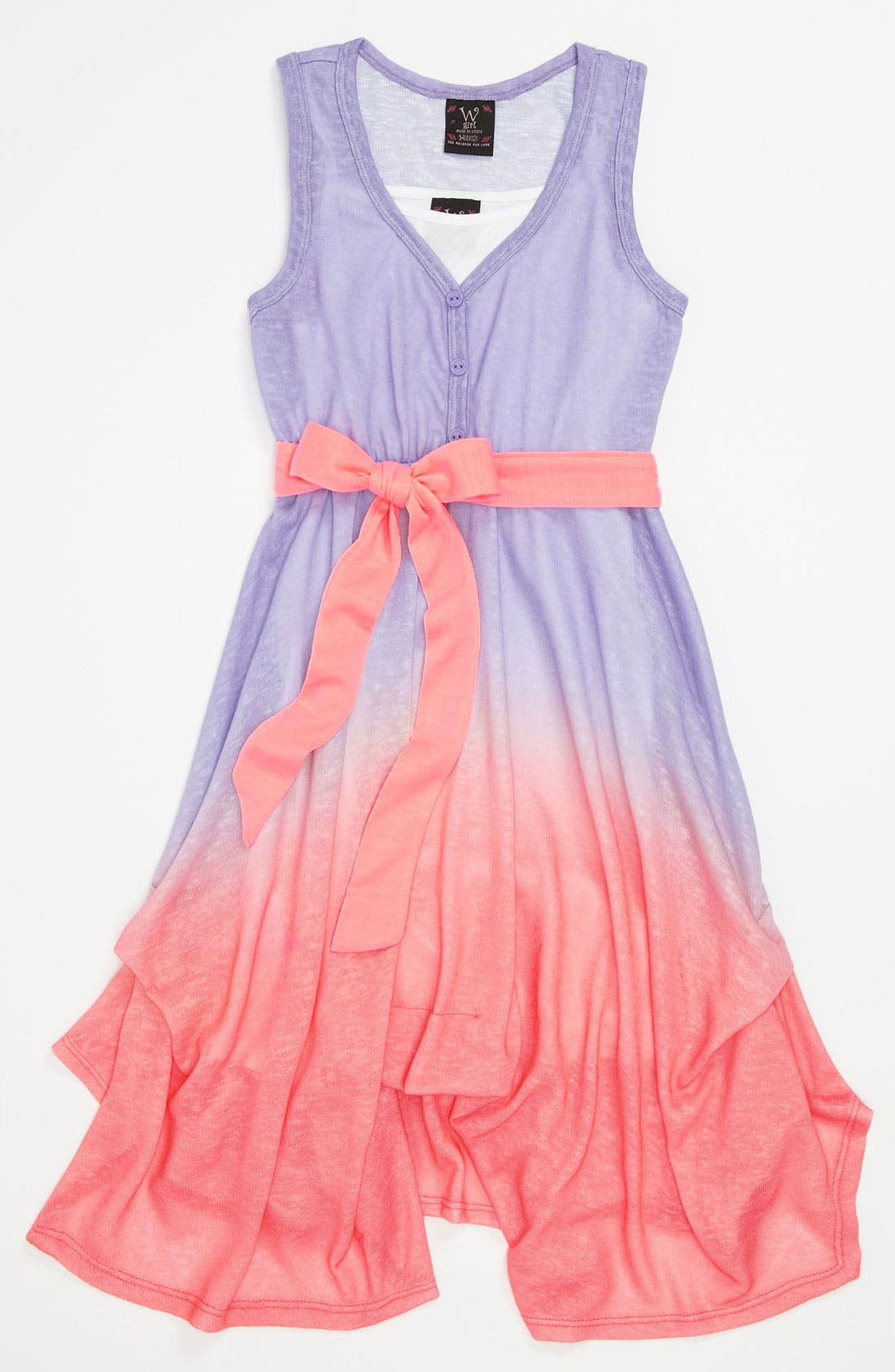 Alternate Image 1 Selected - W Girl Ombré Dress (Little Girls & Big Girls)